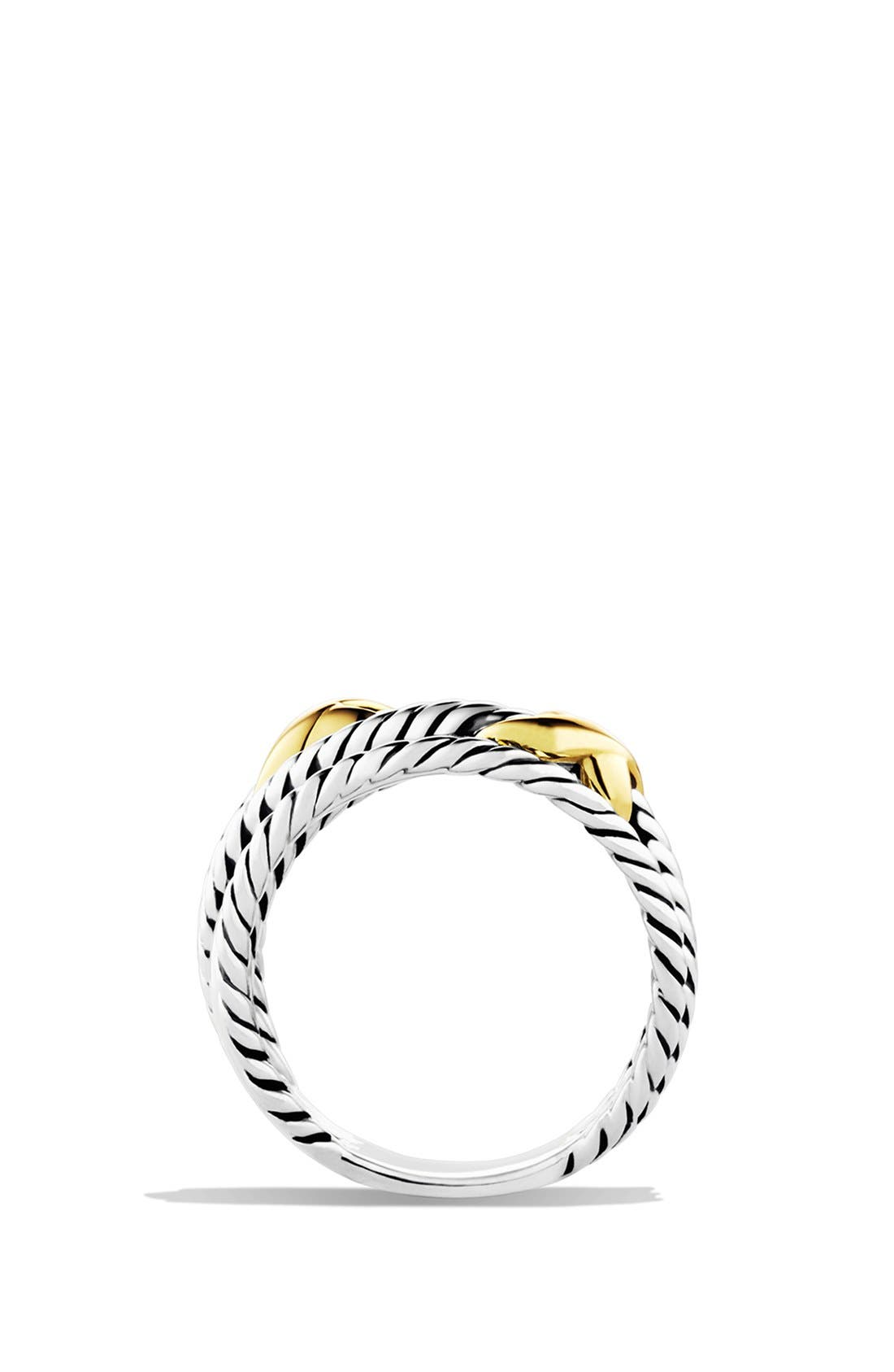 'Double X Crossover' Ring,                             Alternate thumbnail 4, color,                             Two Tone
