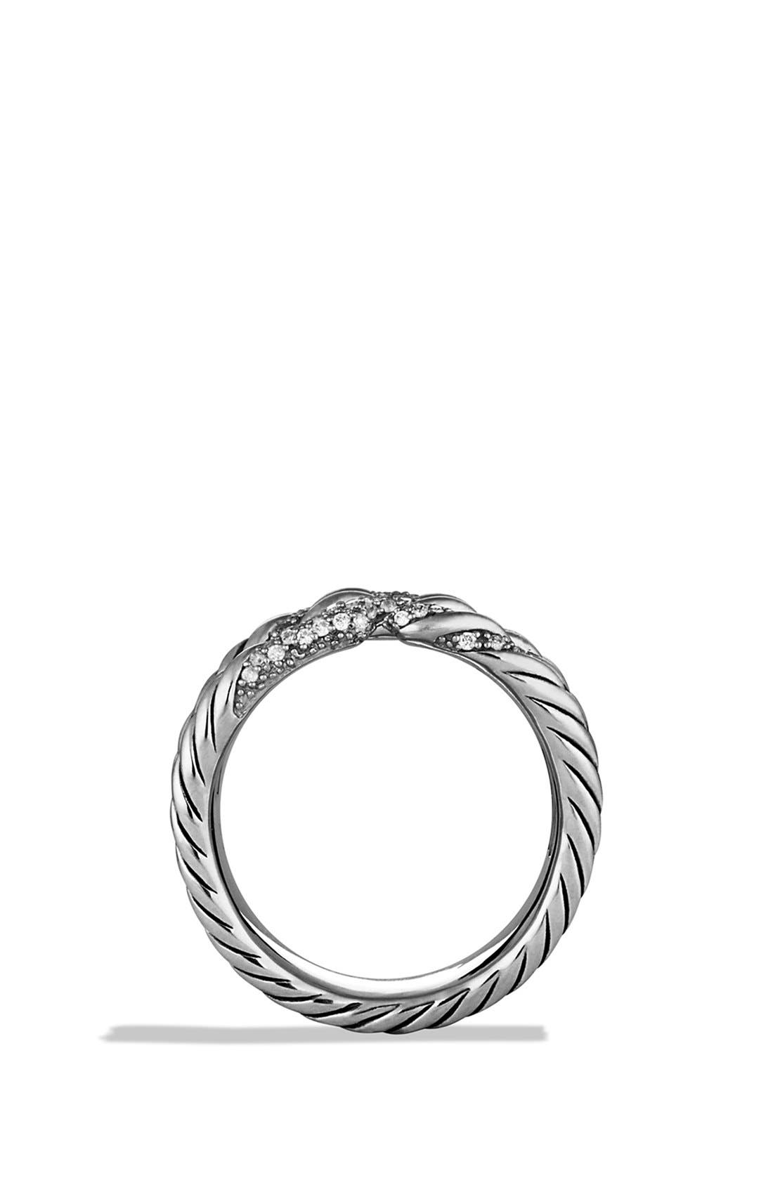Alternate Image 4  - David Yurman 'Willow' Five-Row Ring with Diamonds