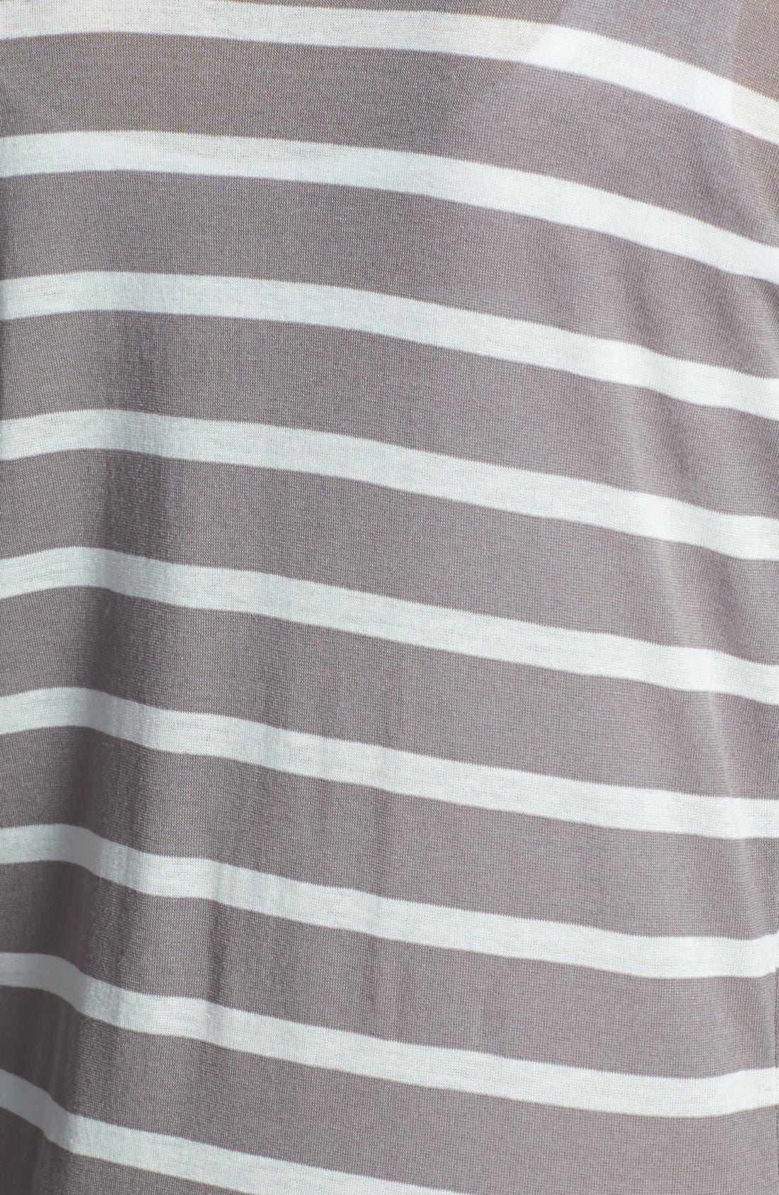 Alternate Image 3  - Three Dots Mixed Stripe Cardigan