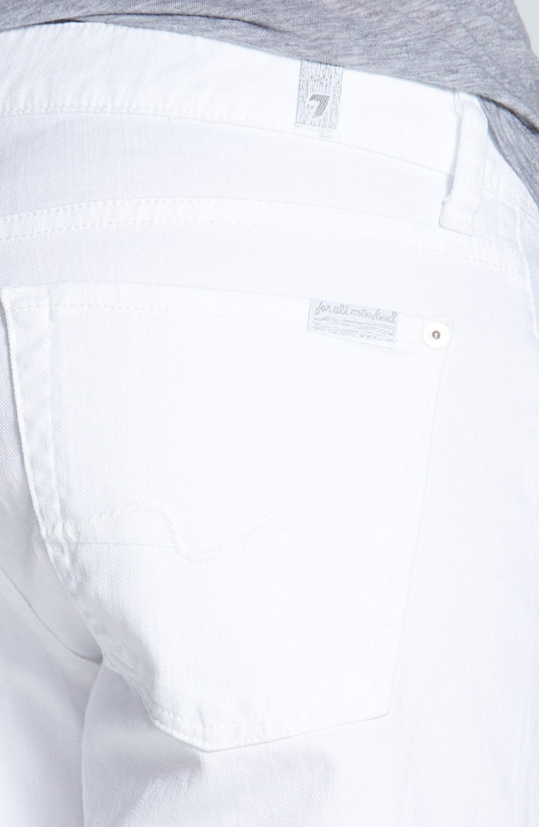 Alternate Image 3  - 7 For All Mankind® 'Joesphina' Straight Leg Jeans (Clean White)