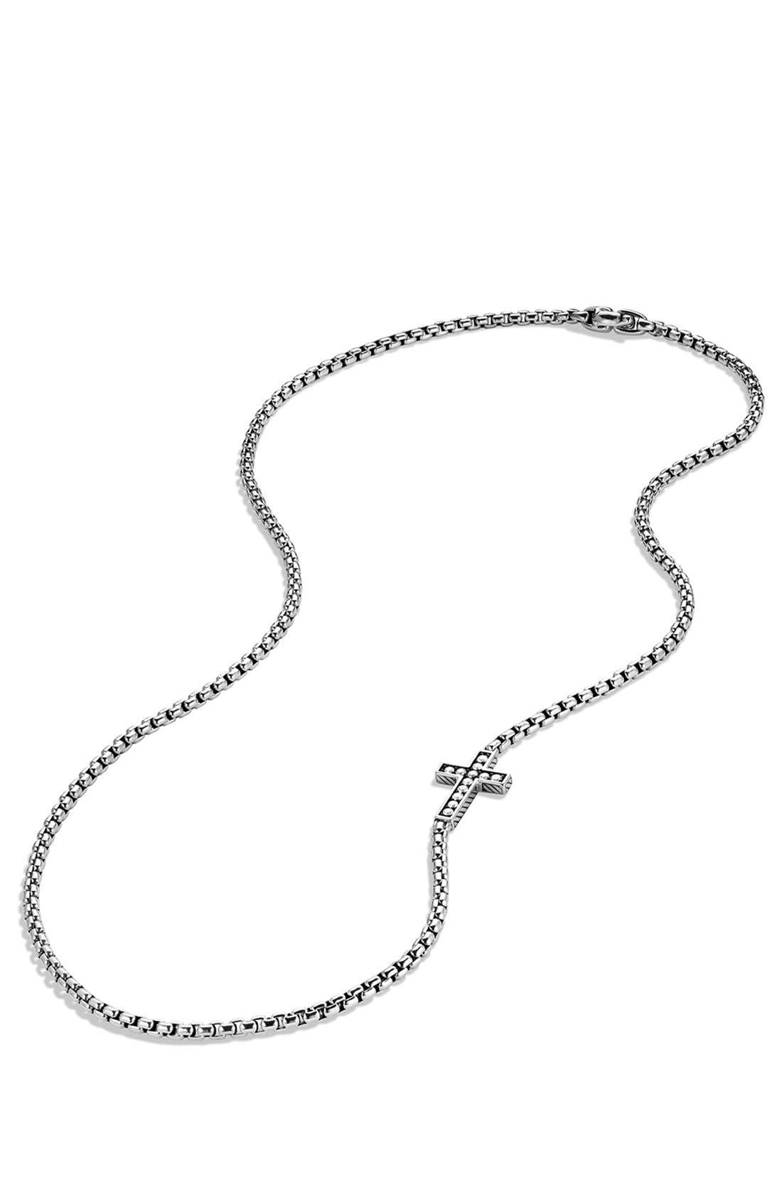 Alternate Image 3  - David Yurman Pavé Cross Necklace with Diamonds