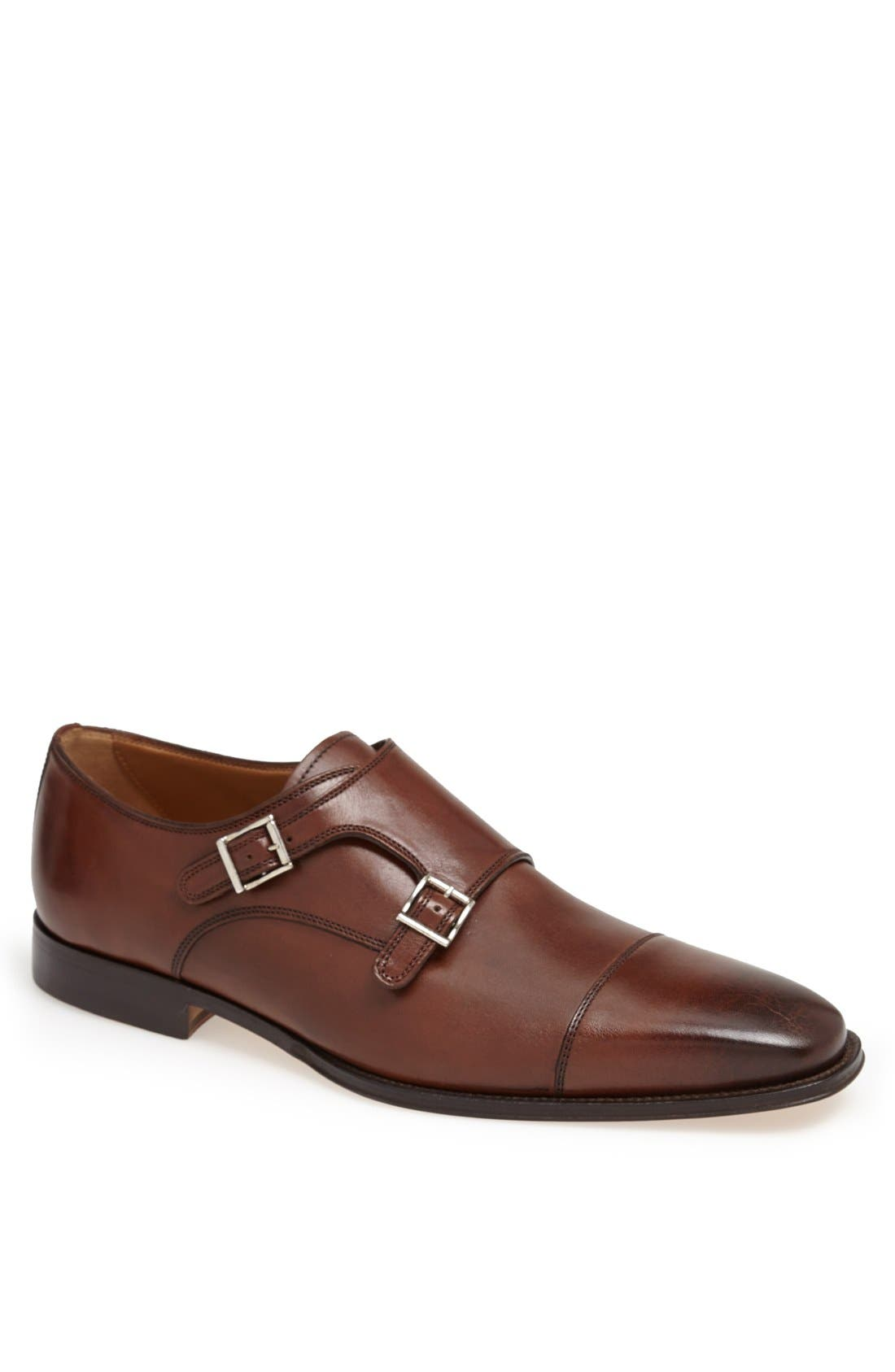 'Classico' Double Monk Strap Slip-On,                             Main thumbnail 1, color,                             Brown