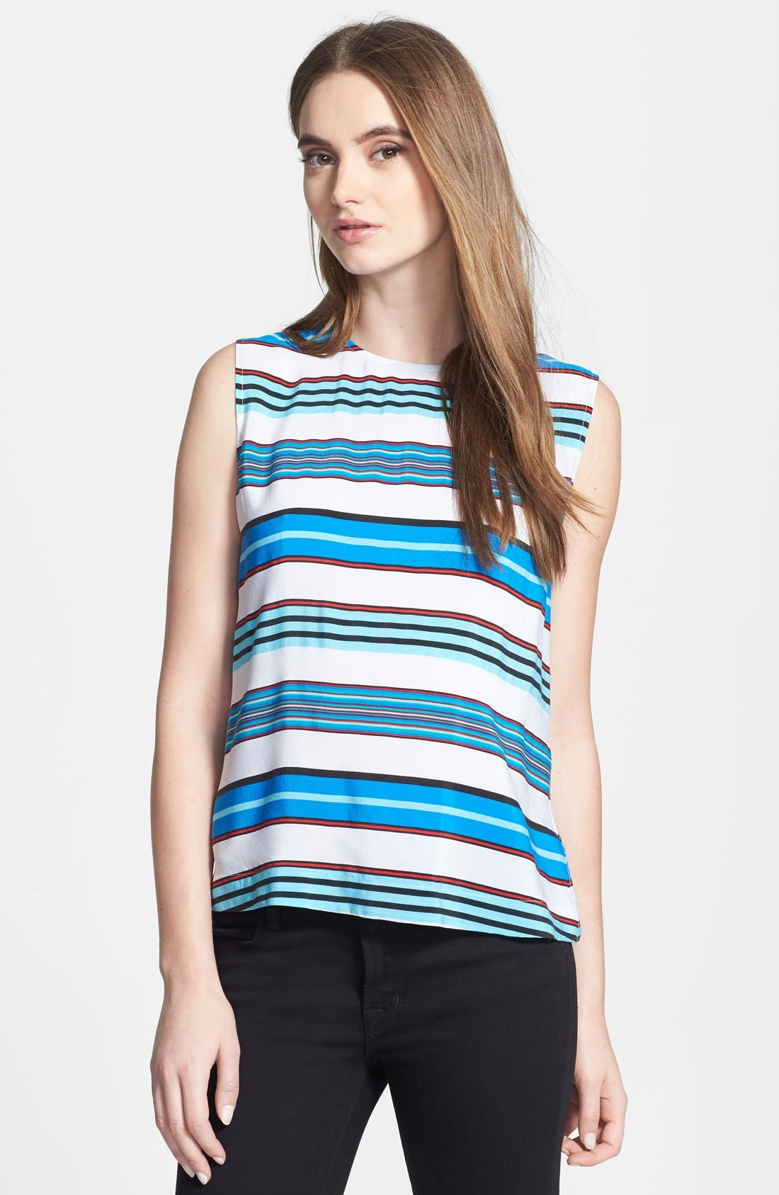 Alternate Image 1 Selected - Equipment 'Reagan' Multi Stripe Silk Blouse