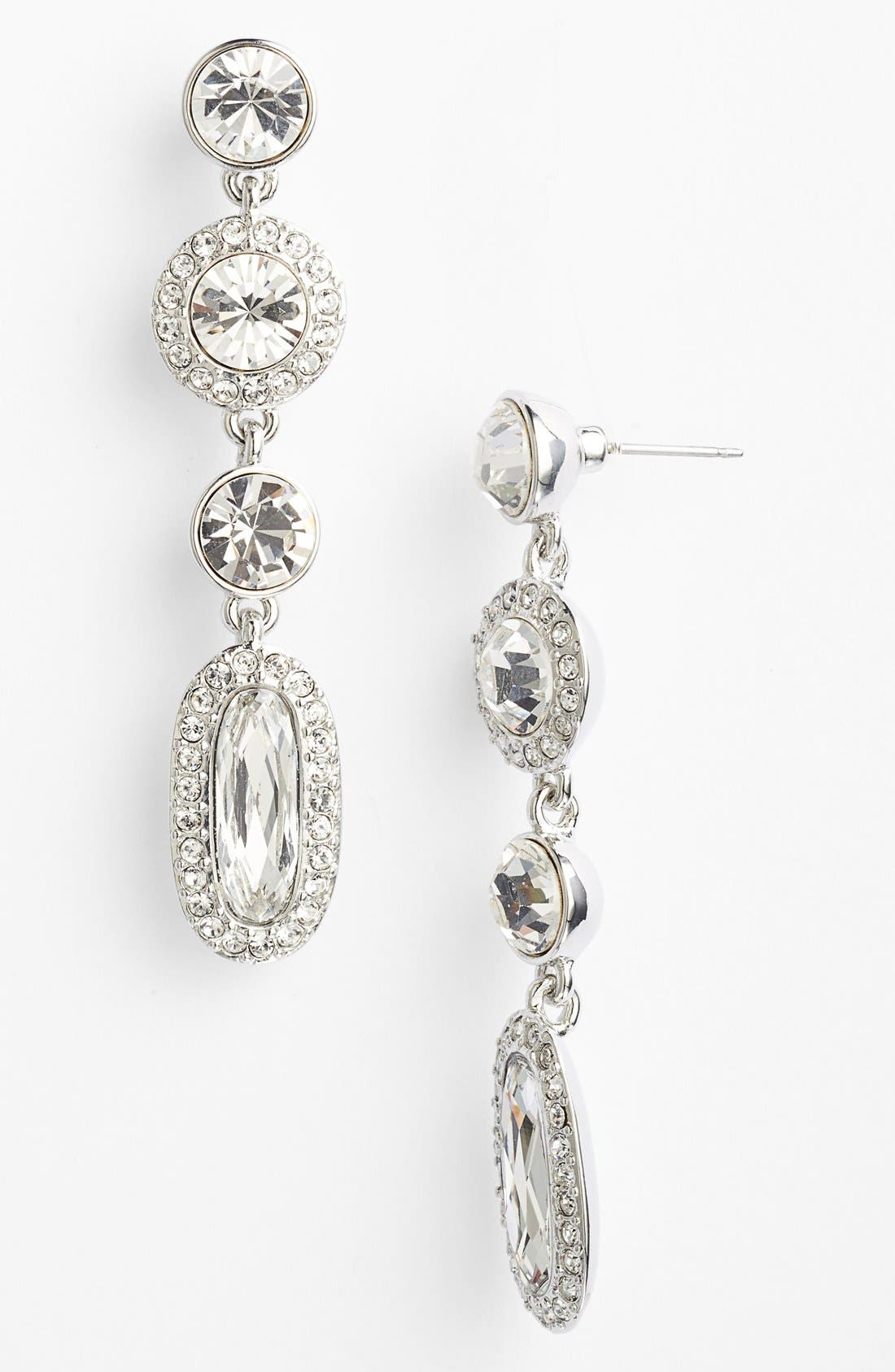 Alternate Image 1 Selected - Givenchy Pavé Linear Earrings