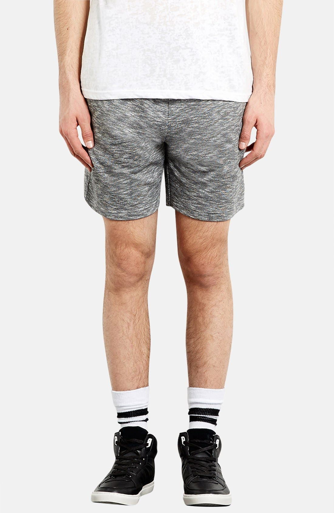 Main Image - Topman Trim Fit Jersey Knit Shorts
