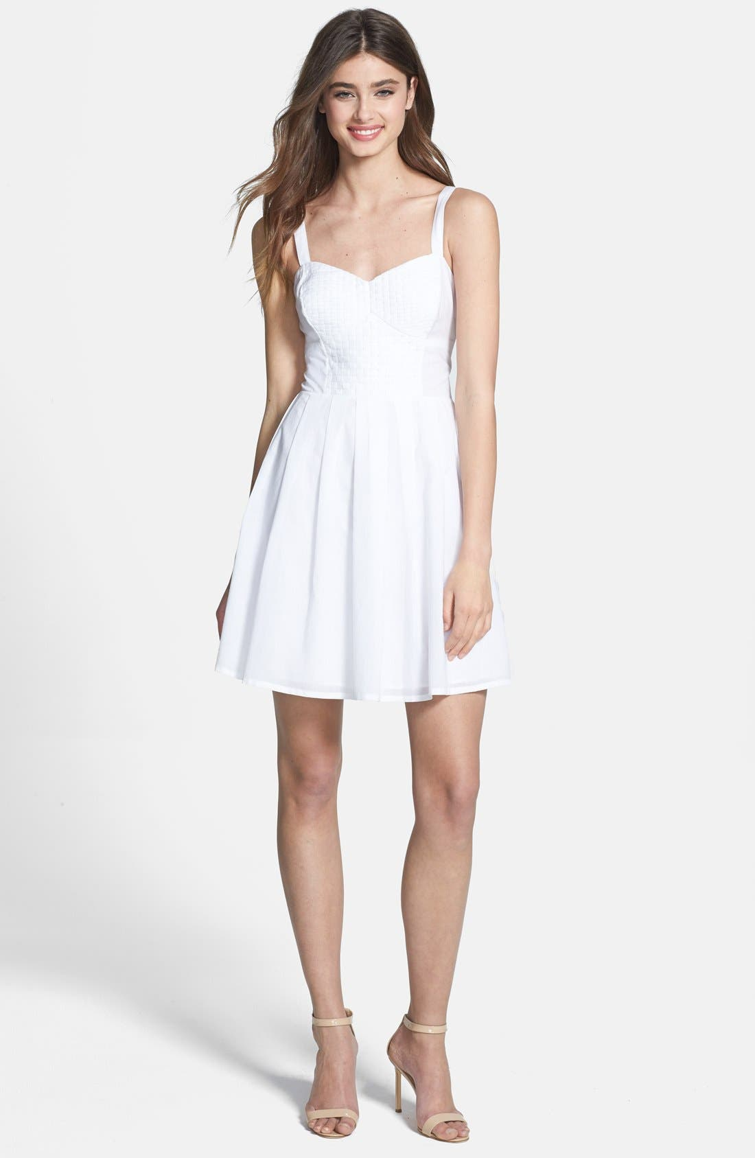 Alternate Image 1 Selected - French Connection 'Monaco Breeze' Cotton Fit & Flare Dress