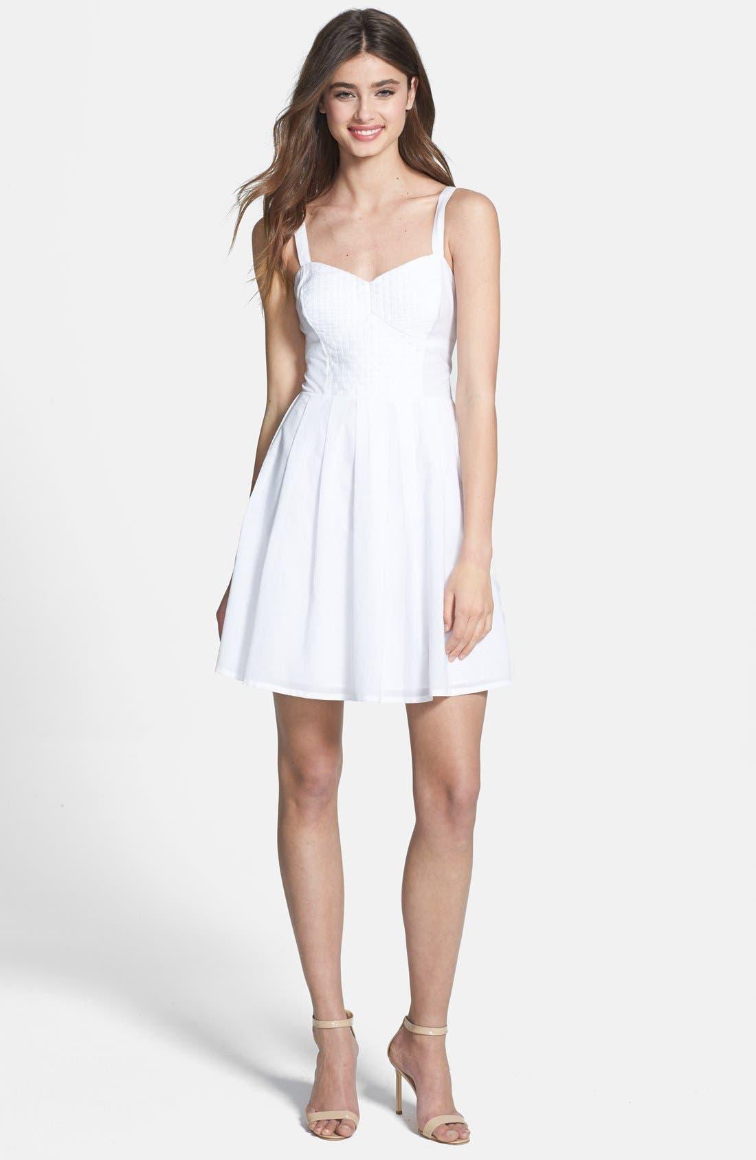 Main Image - French Connection 'Monaco Breeze' Cotton Fit & Flare Dress
