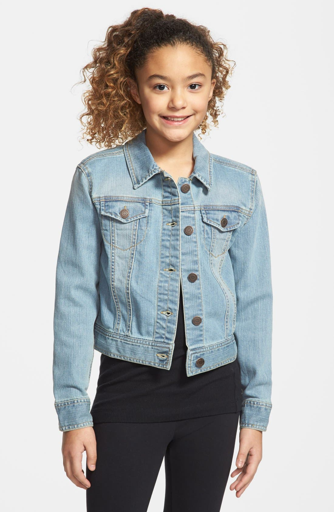 Alternate Image 1 Selected - Tucker + Tate Denim Jacket (Little Girls & Big Girls)(Online Only)
