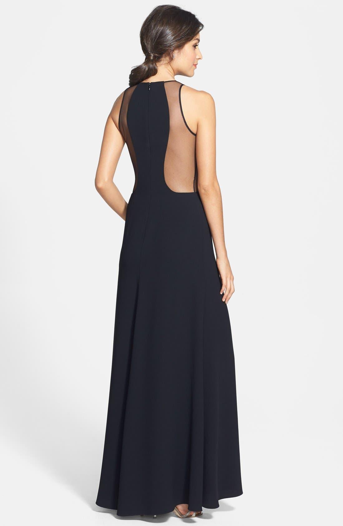 Alternate Image 2  - Jill Jill Stuart Illusion Crepe Gown
