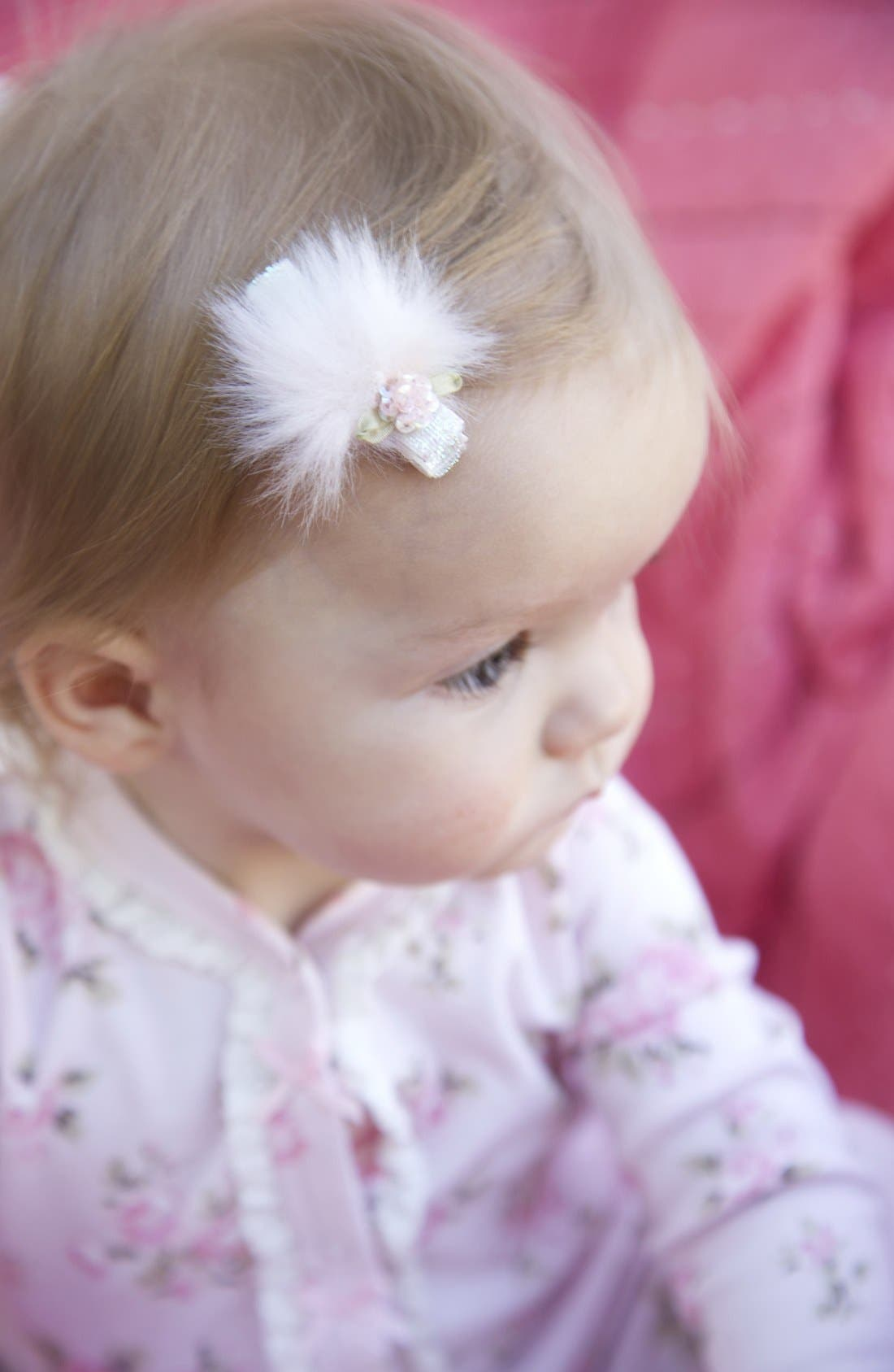 Alternate Image 1 Selected - PLH Bows & Laces Glitter Hair Clip (Baby Girls & Toddler Girls)