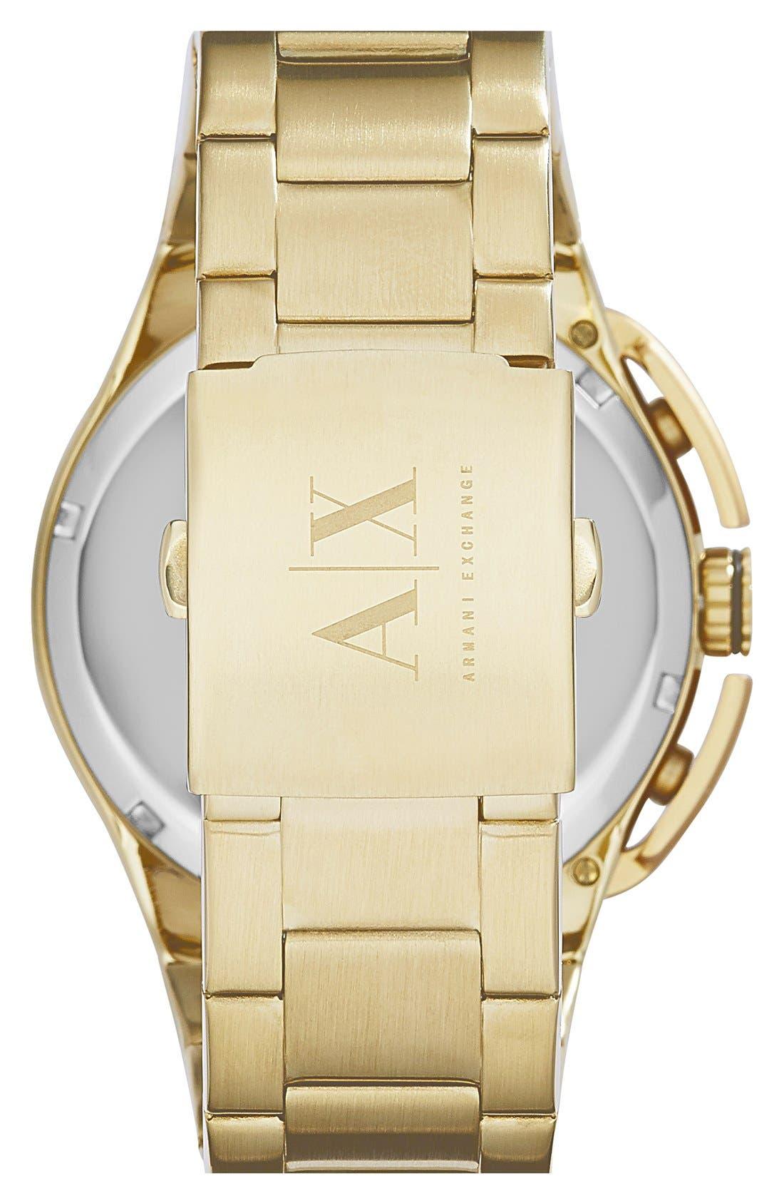 Alternate Image 2  - AX Armani Exchange Aluminum Accent Bracelet Watch, 45mm