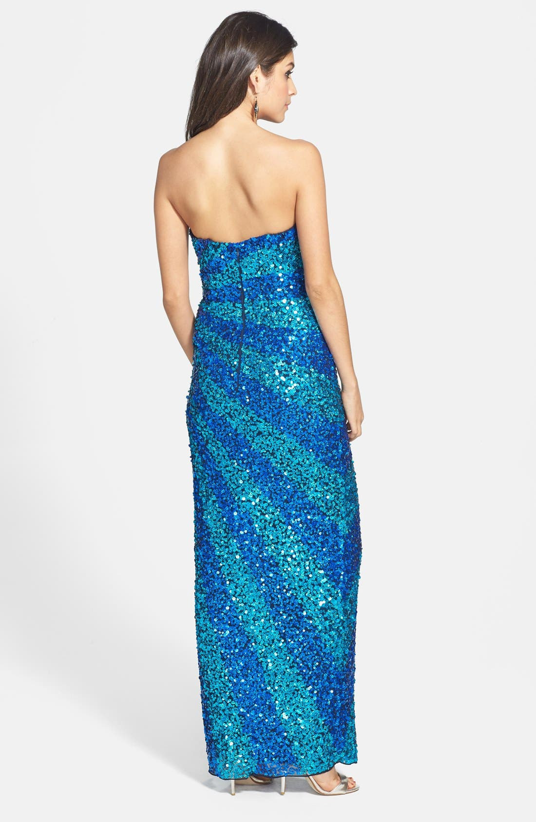 Alternate Image 2  - Sean Collection Sequin Silk Gown