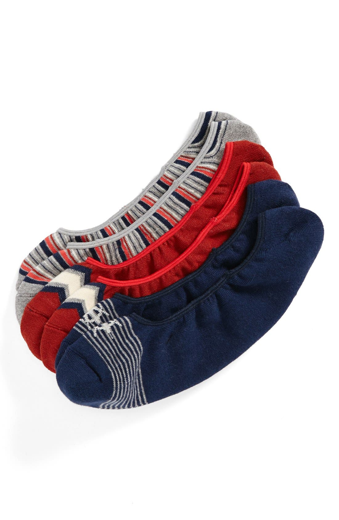 Main Image - PACT 'Picnic' Organic Cotton No-Show Socks (3-Pack)