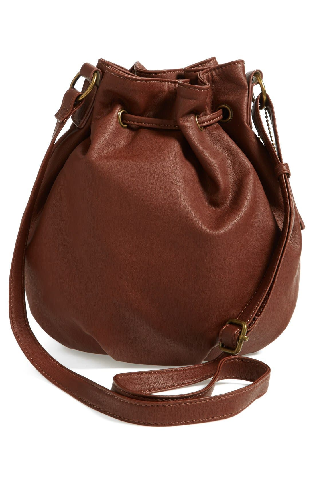 Alternate Image 2  - KENDALL + KYLIE Madden Girl Quilted Faux Leather Bucket Bag (Juniors)
