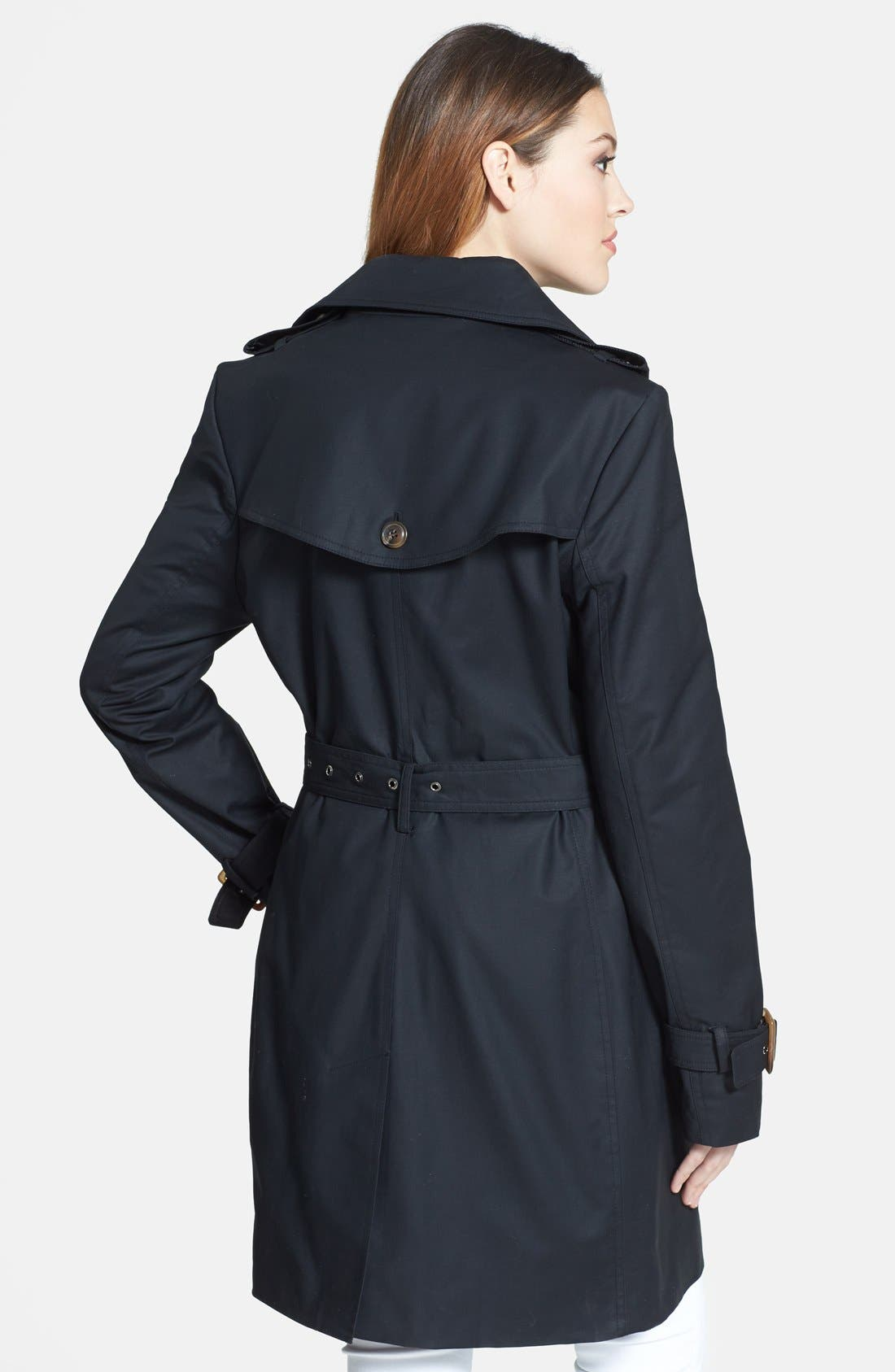 Alternate Image 2  - Trina Turk Double Breasted Trench Coat
