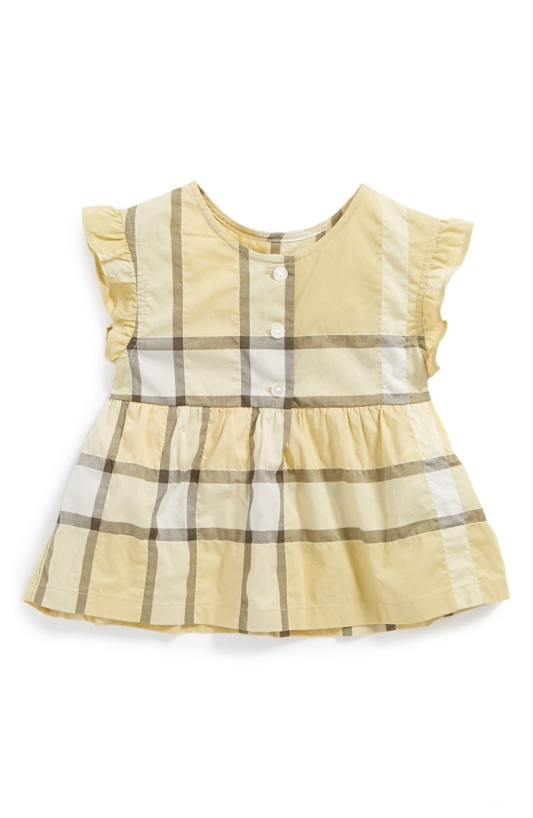 Alternate Image 1 Selected - Burberry Top (Baby Girls)