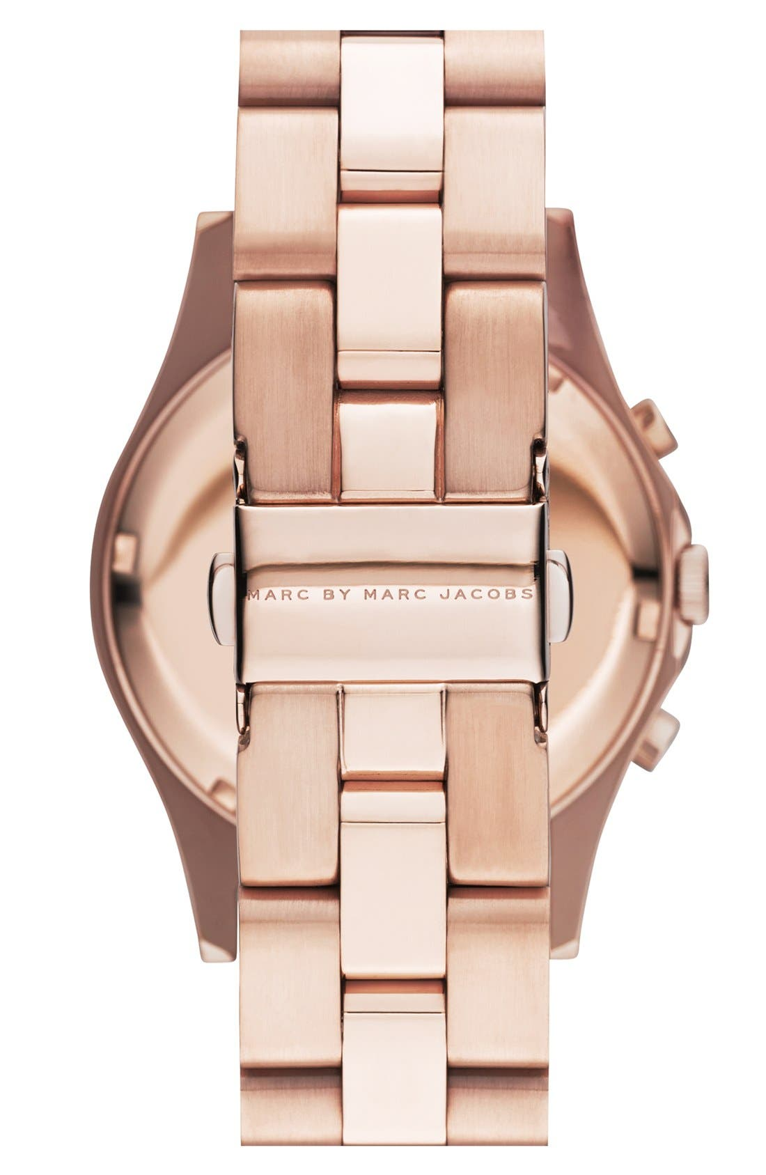 Alternate Image 2  - MARC BY MARC JACOBS 'Henry Glitz' Chronograph Bracelet Watch, 37mm