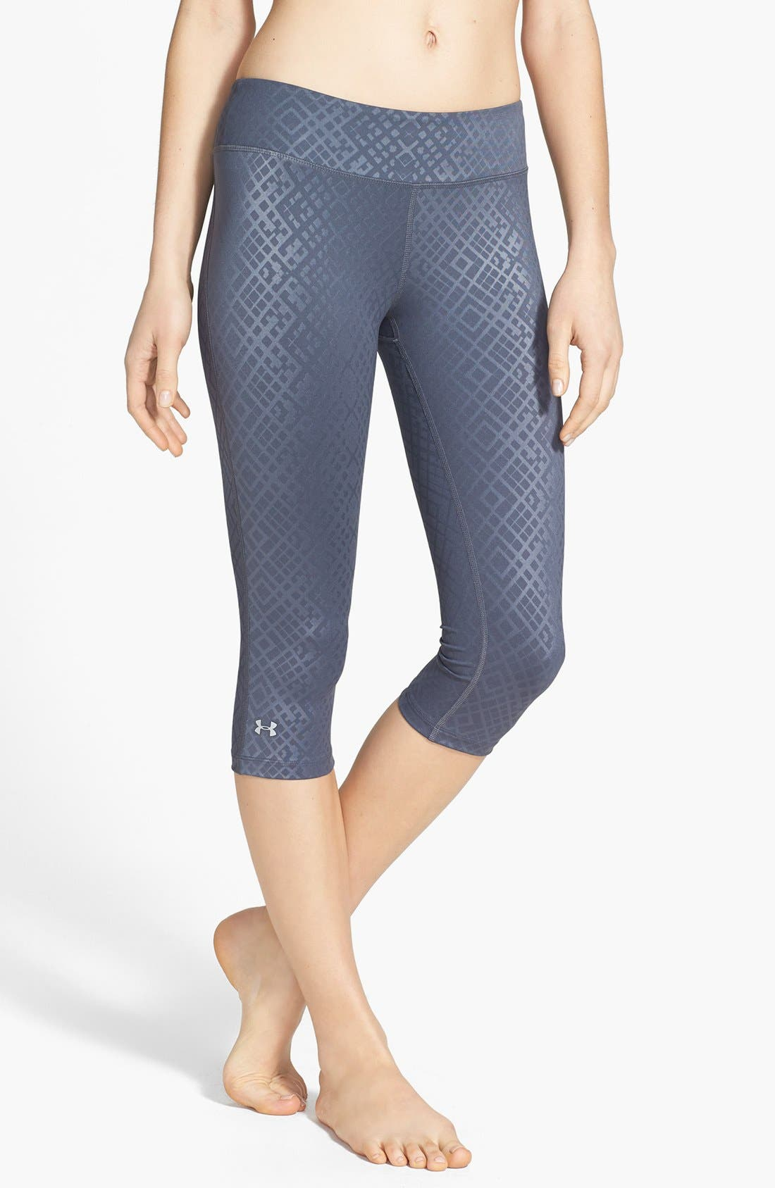 Alternate Image 1 Selected - Under Armour 'Sonic' HeatGear® Embossed Capris