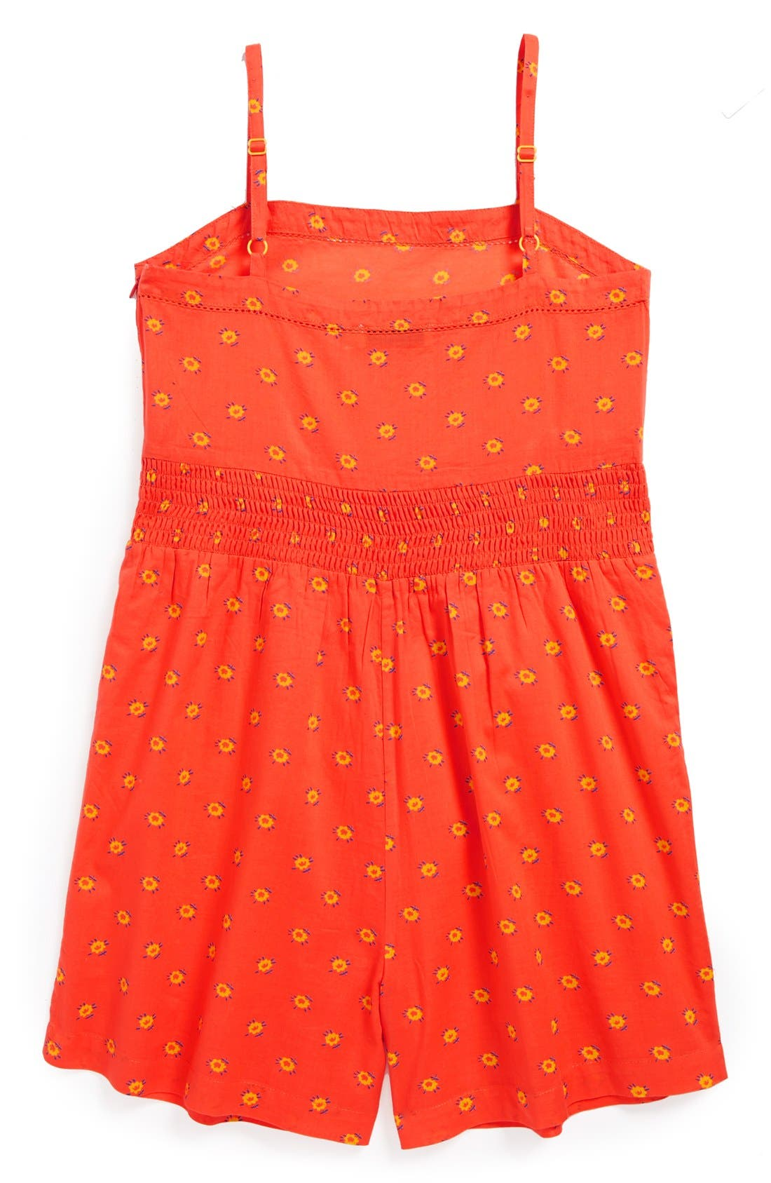 Alternate Image 2  - Stella McCartney Floral Print Cotton Romper (Toddler Girls, Little Girls & Big Girls)