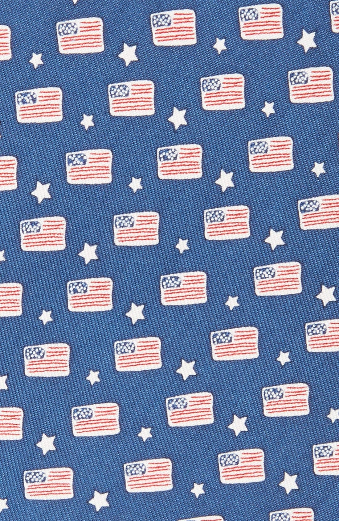 Flag Print Tie,                             Alternate thumbnail 2, color,                             Navy