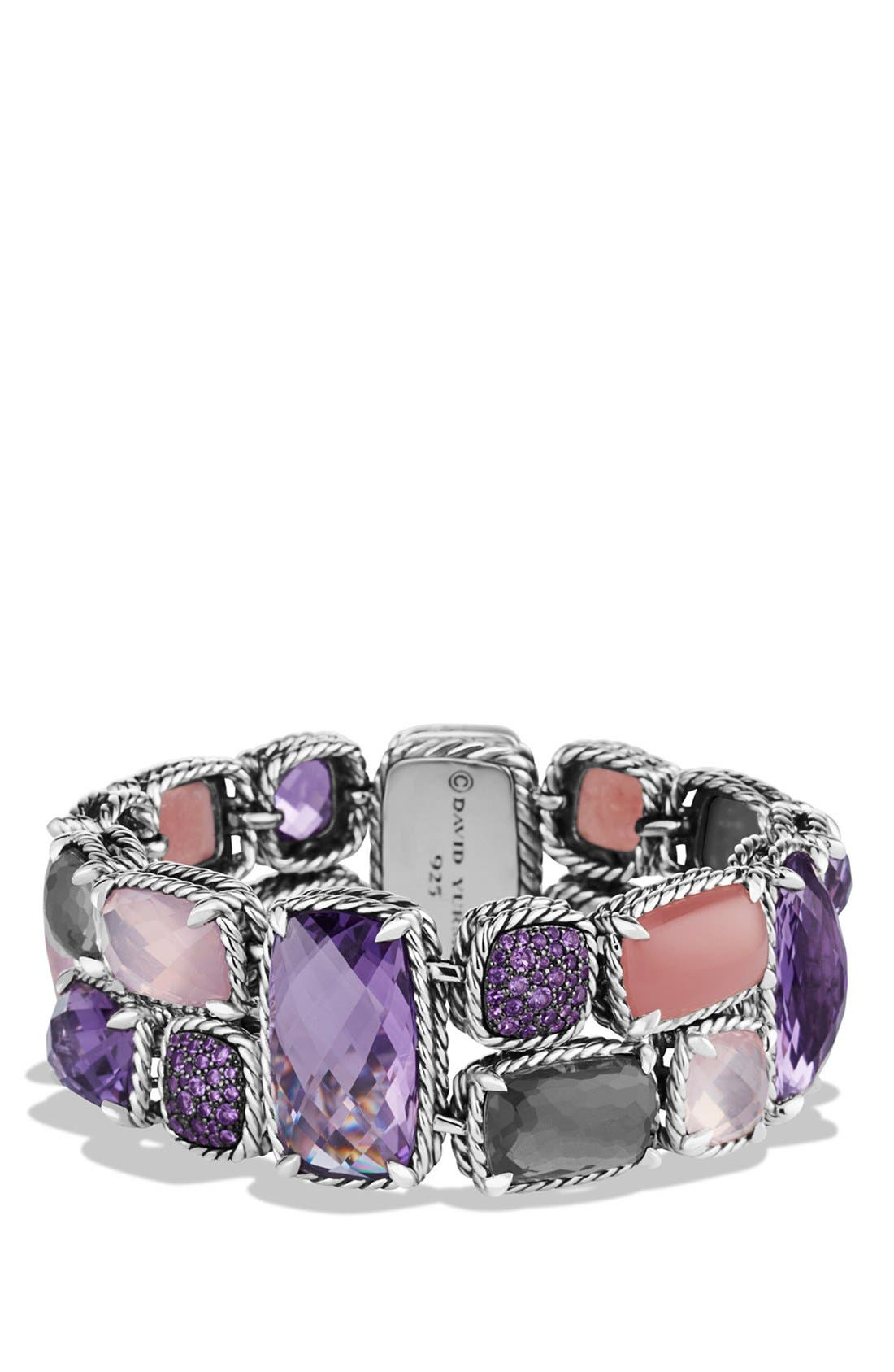 Alternate Image 1 Selected - David Yurman 'Mosaic - Châtelaine' Bracelet with Semiprecious Stones