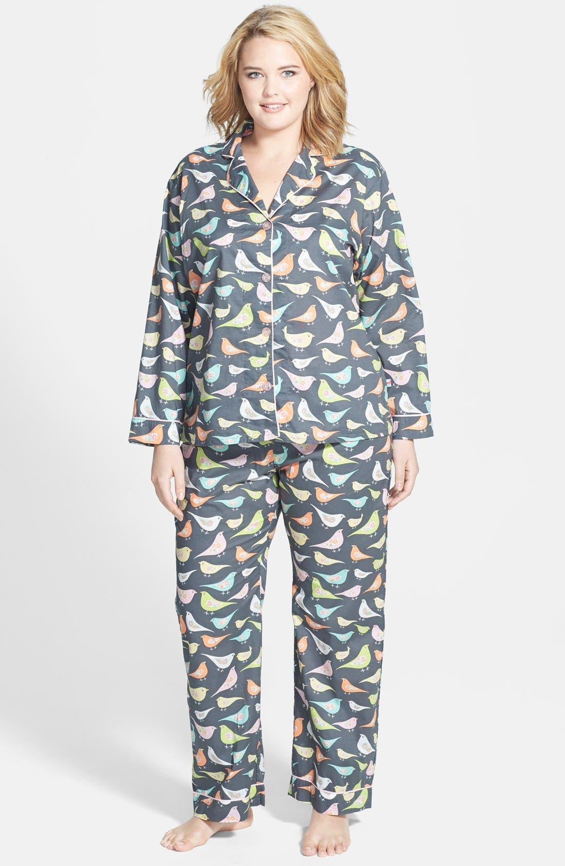 Main Image - PJ Salvage 'Playful Prints' Cotton Voile Pajamas (Plus Size)