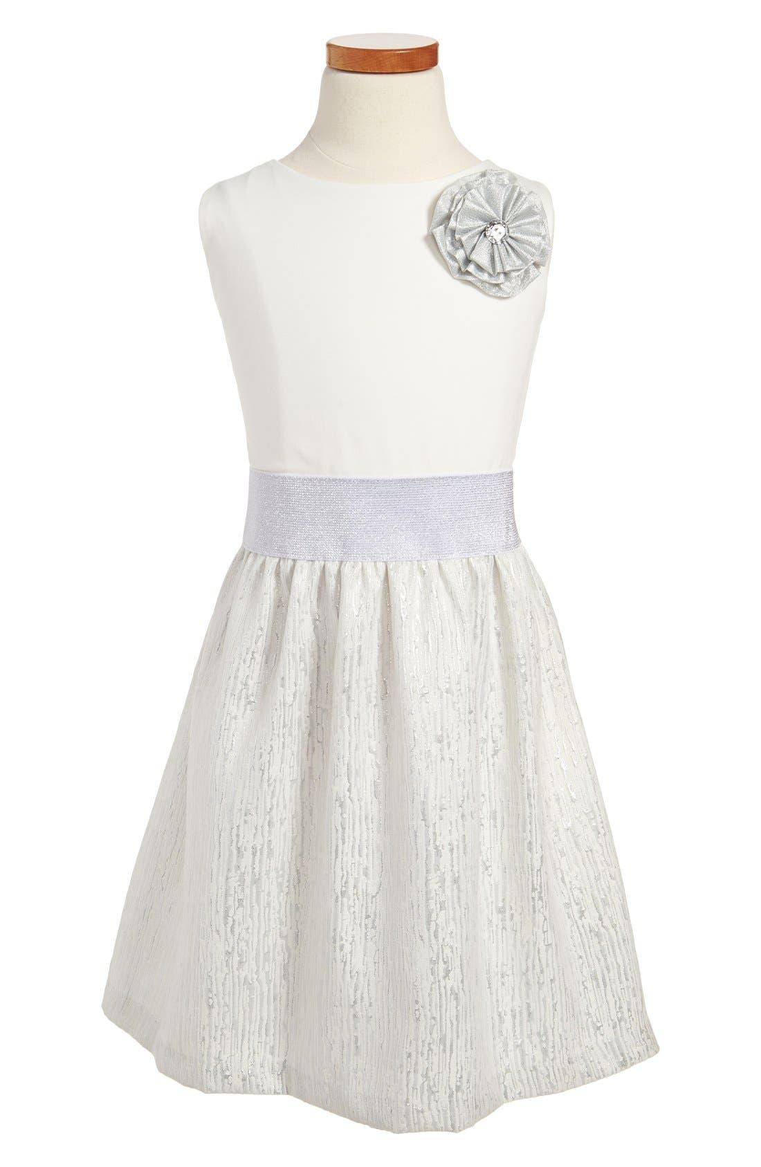Main Image - ABS by Allen Schwartz 'Gabriella' Sleeveless Dress (Big Girls)