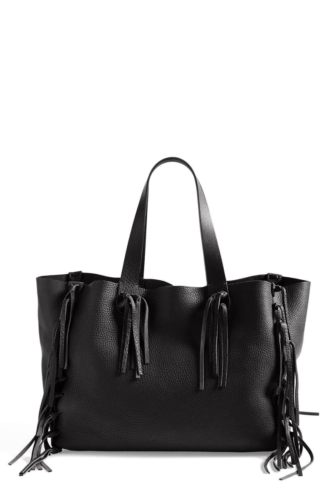 Alternate Image 1 Selected - VALENTINO GARAVANI 'C-Rockee' Fringed Tote