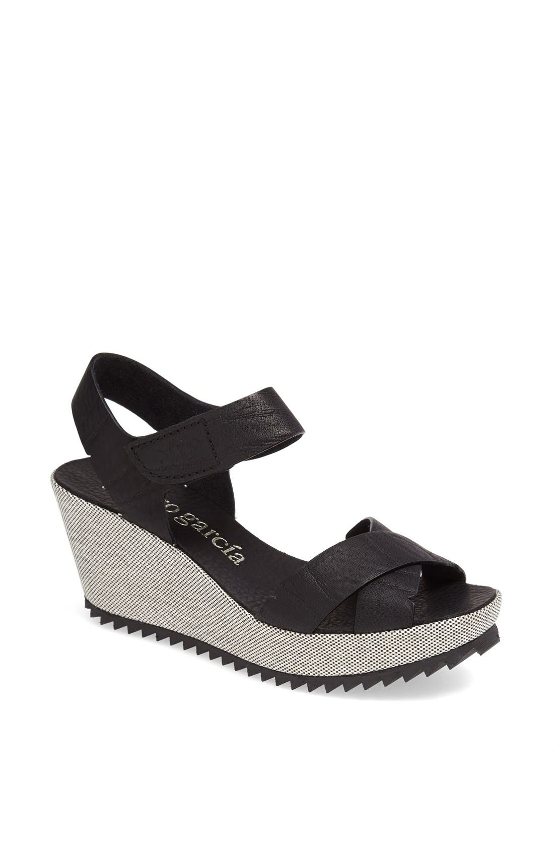 Alternate Image 1 Selected - Pedro Garcia 'Freida' Crisscross Wedge Sandal