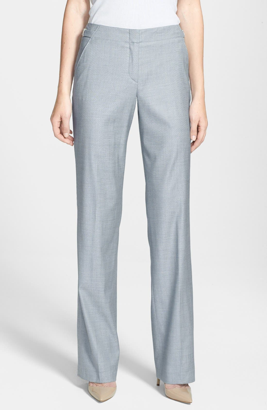 Alternate Image 1 Selected - BOSS HUGO BOSS 'Tillina' Stretch Wool Blend Trousers
