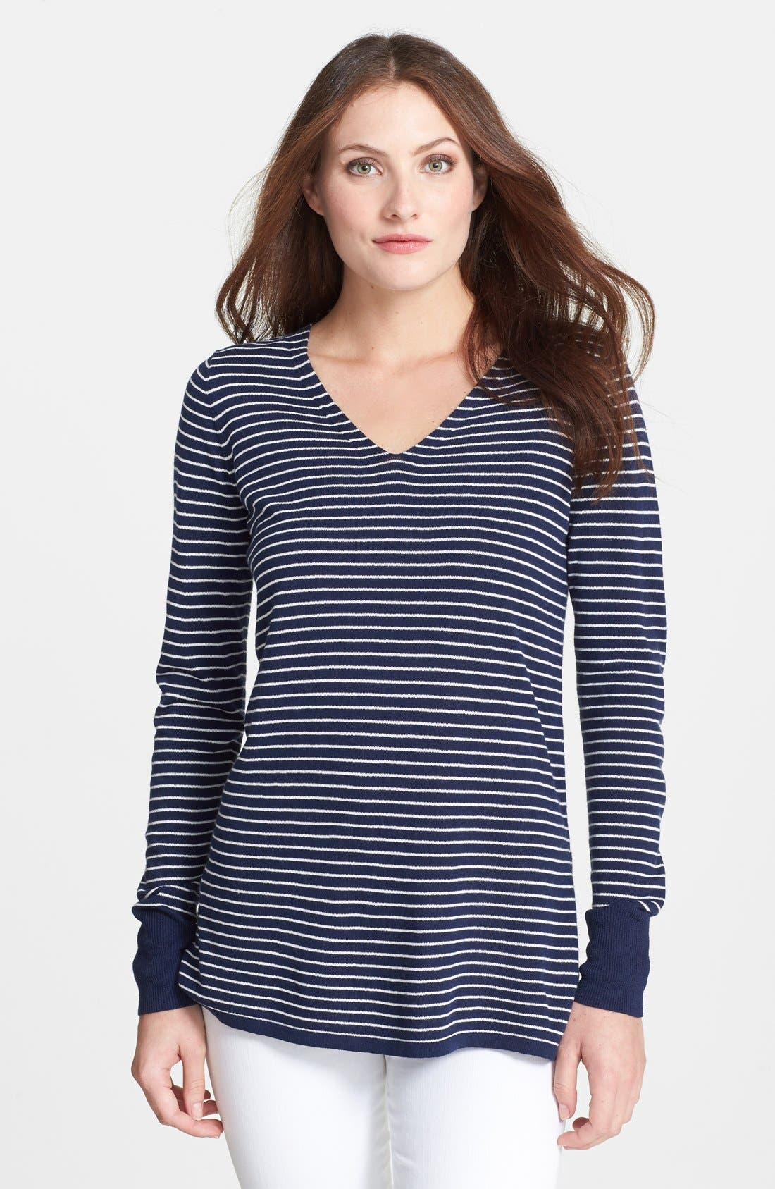 Main Image - Rachel Roy Stripe V-Neck Top