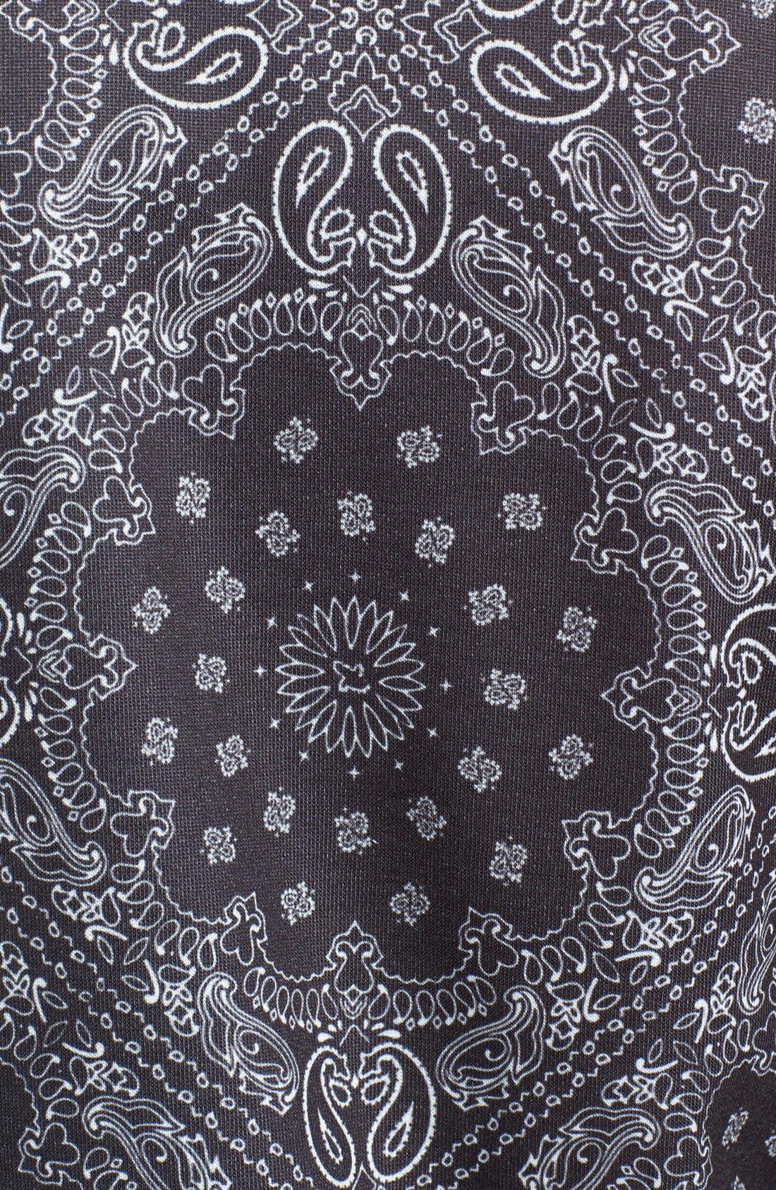 Alternate Image 3  - Topman Bandana Print Jersey Zip Sweatshirt
