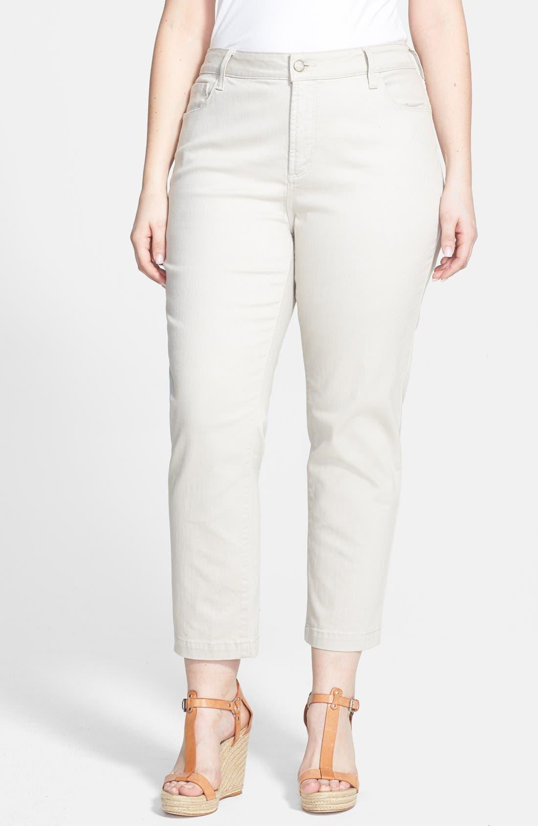 Main Image - NYDJ 'Audrey' Stretch Ankle Straight Leg Pants (Plus Size)