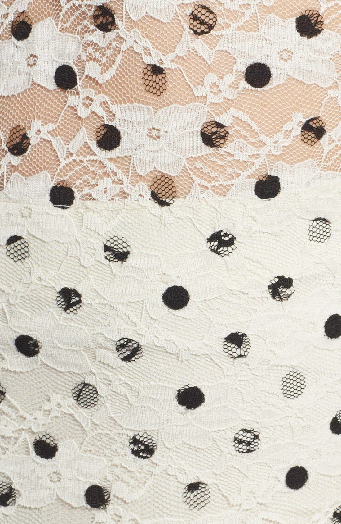 Alternate Image 4  - Betsey Johnson Lace Dot Fit & Flare Dress