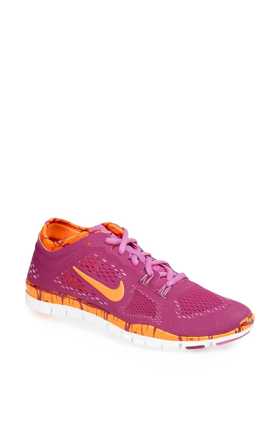 Alternate Image 1 Selected - Nike 'Free 5.0 TR Fit 4' Print Training Shoe (Women)