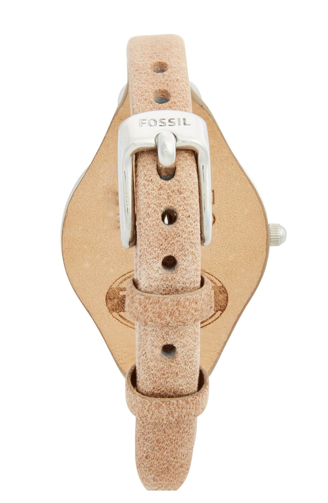 Alternate Image 2  - Fossil 'Georgia' Leather Strap Watch, 32mm