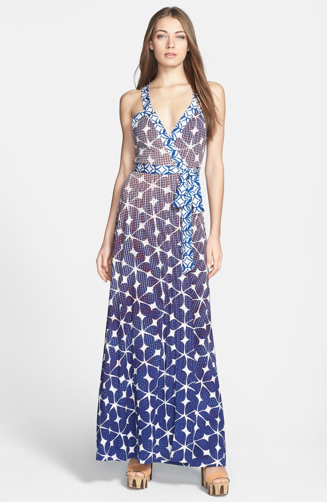 Alternate Image 1 Selected - Diane von Furstenberg 'Samson' Silk Maxi Dress