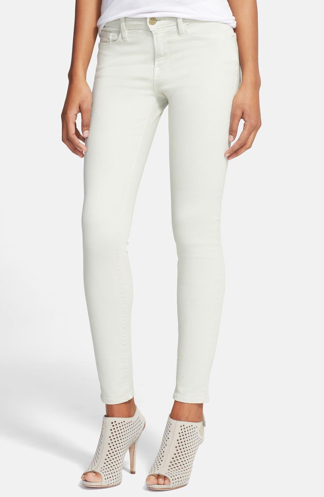 Alternate Image 1 Selected - FRAME 'Le Color' Skinny Jeans (Pale Mint)