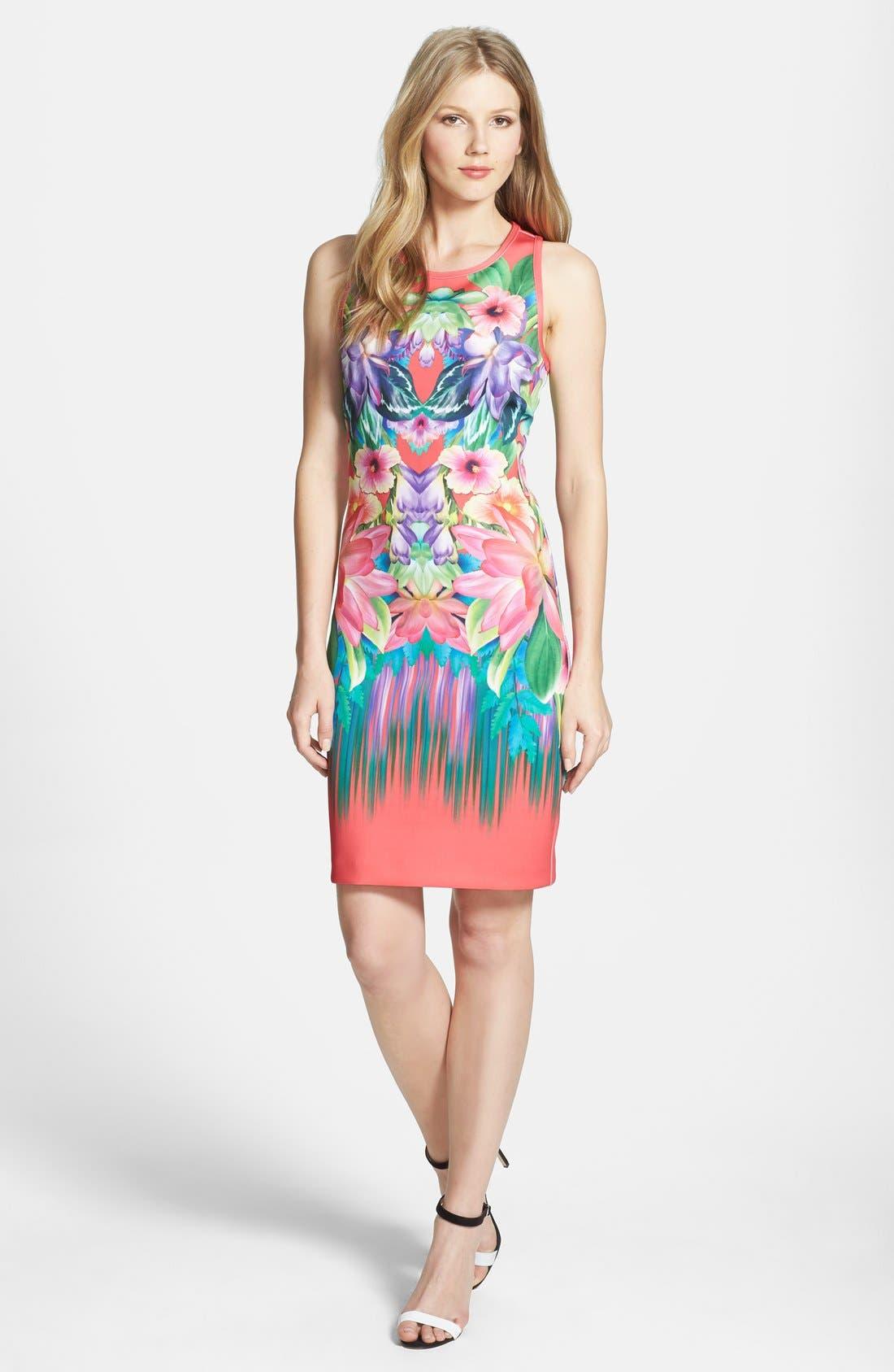 Main Image - Laundry by Shelli Segal Print Neoprene Sheath Dress