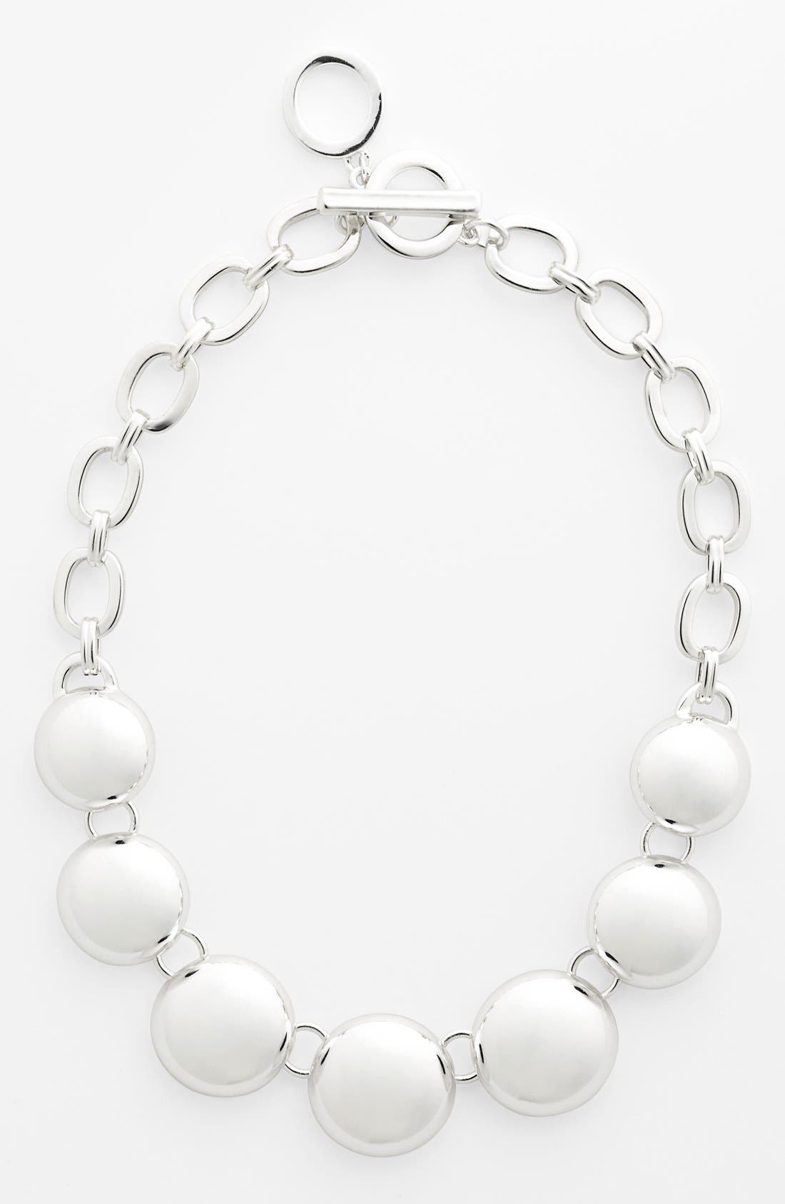 Alternate Image 1 Selected - Anne Klein Dome Frontal Necklace