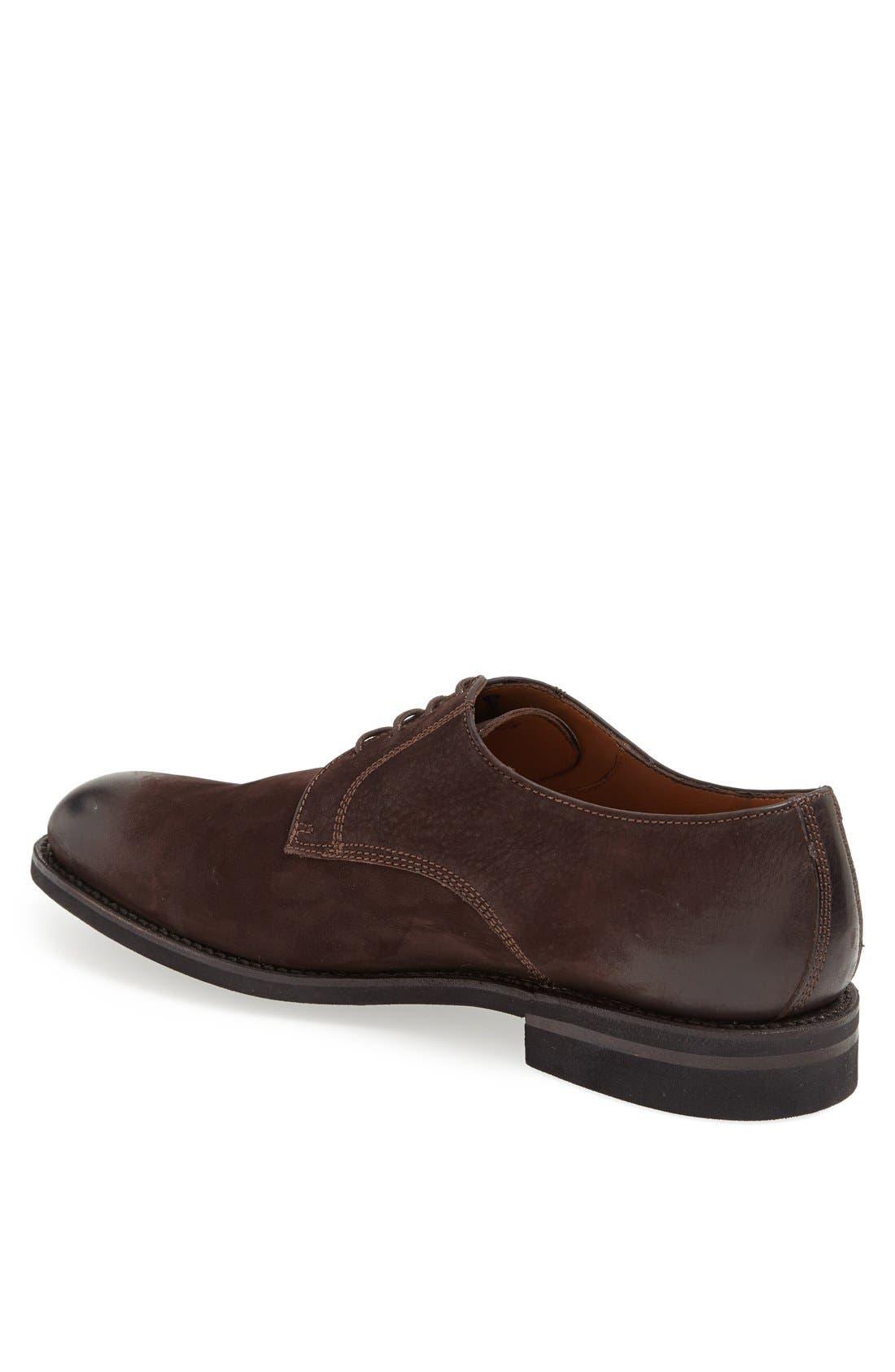 Alternate Image 2  - Lottusse Leather Plain Toe Derby