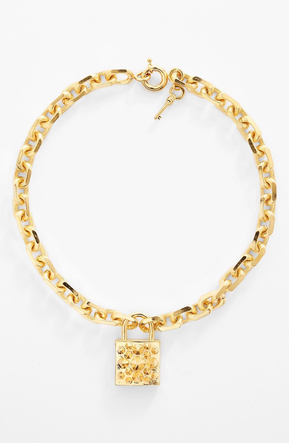 Alternate Image 1 Selected - Alexander McQueen Padlock & Key Chain Necklace