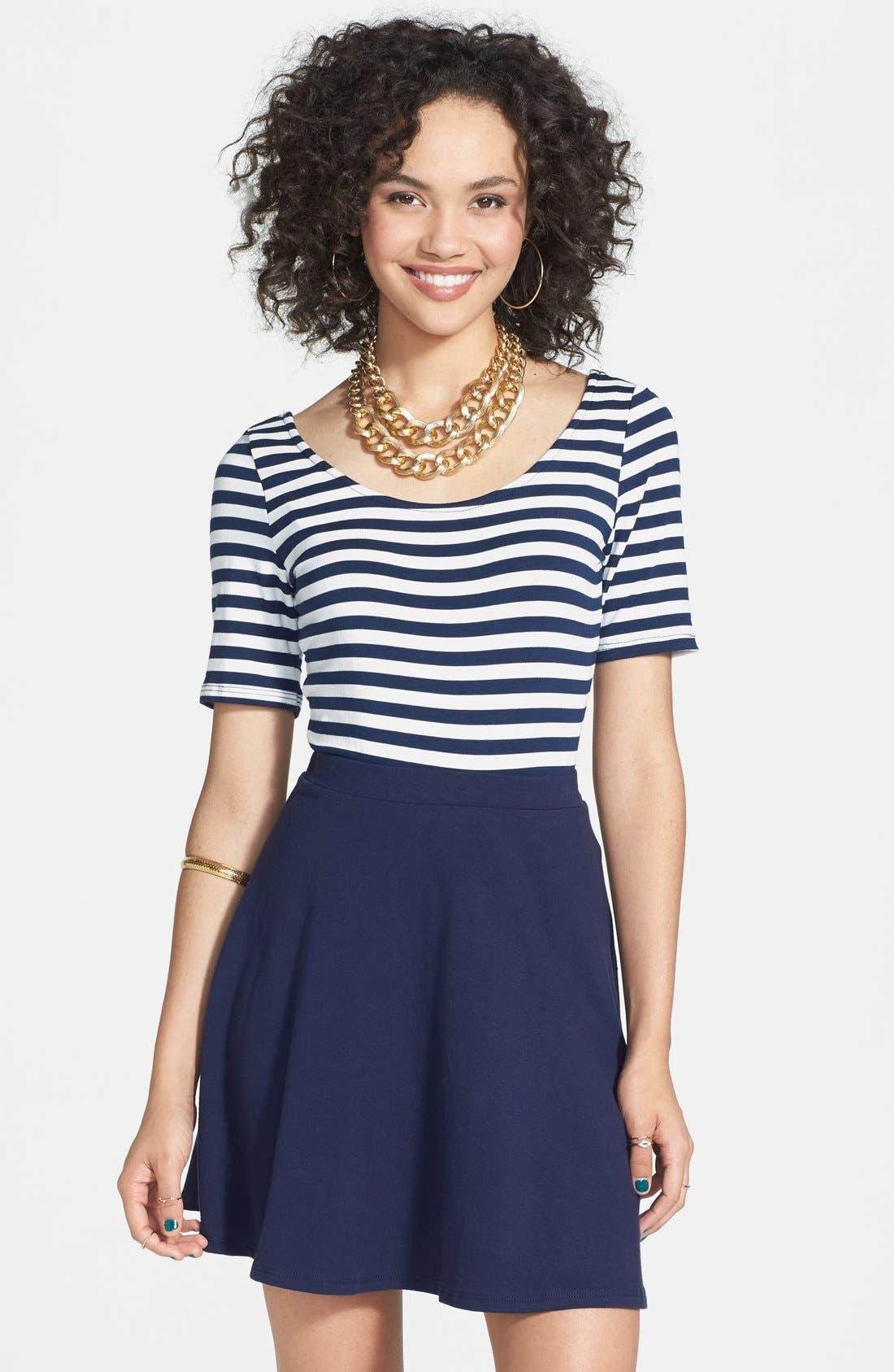 Skater Skirt,                         Main,                         color, Dark Navy