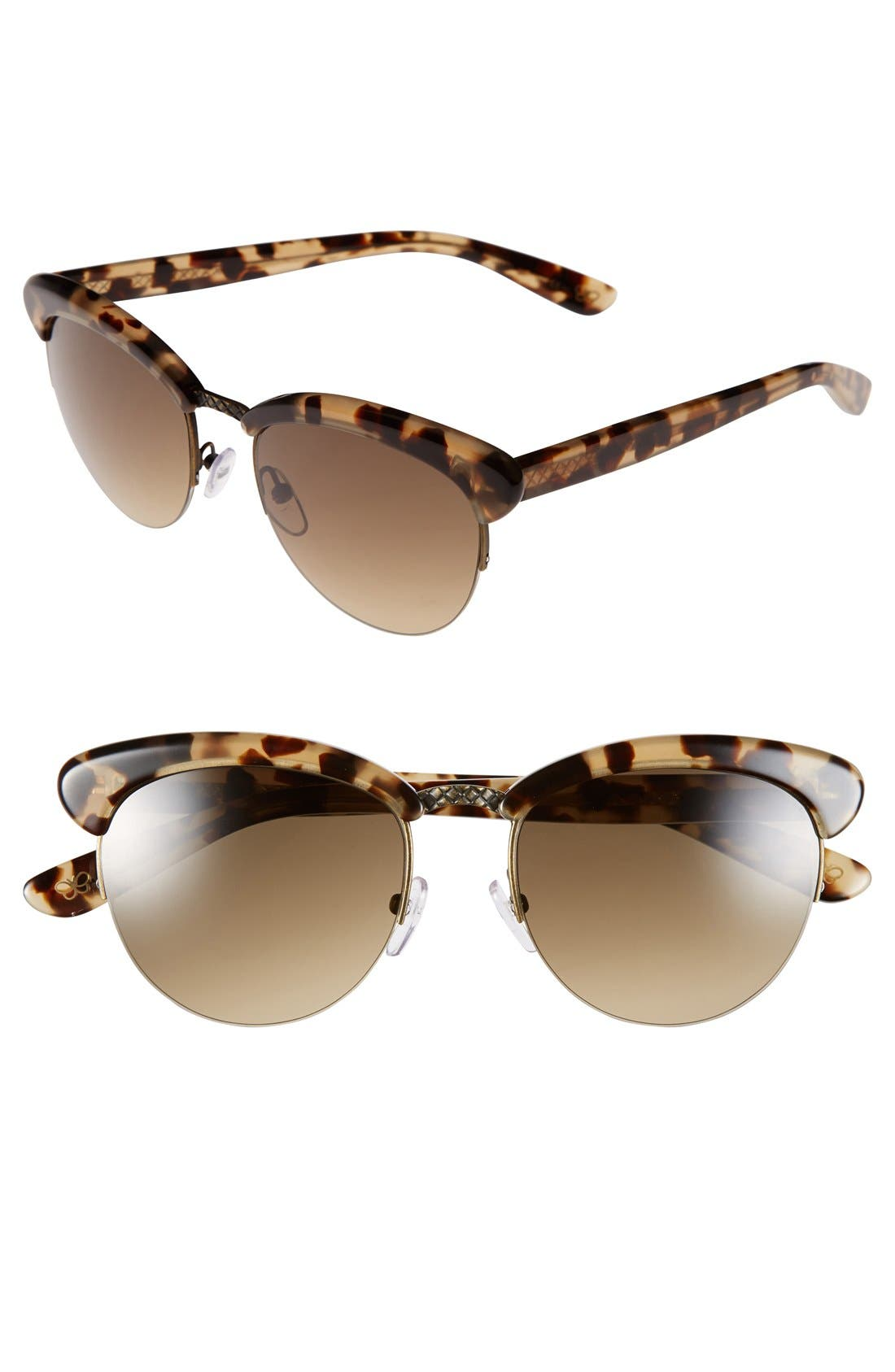 Alternate Image 1 Selected - Bottega Veneta 53mm Retro Sunglasses