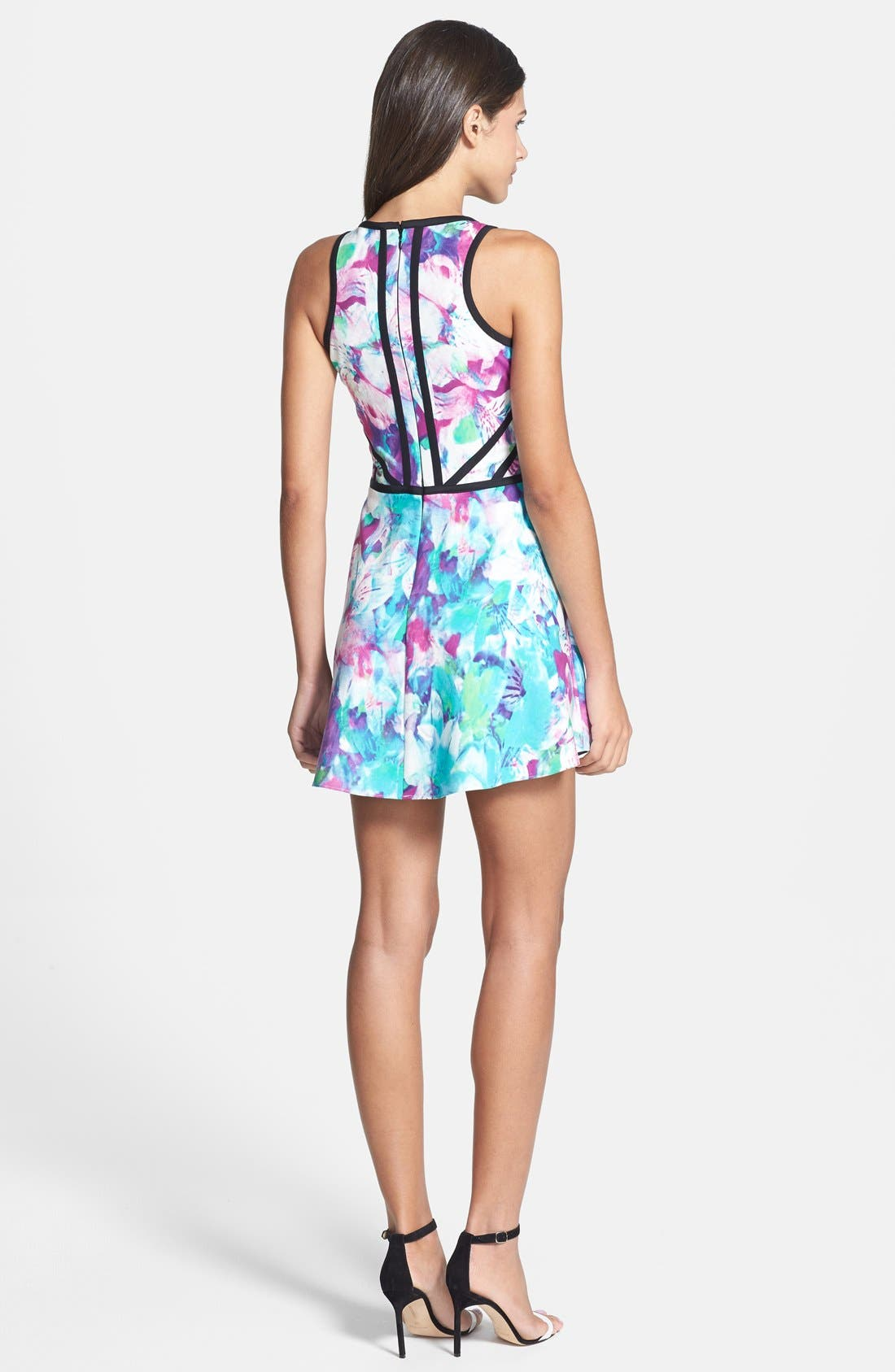 Alternate Image 2  - Parker 'Shelby' Print Cotton Blend Fit & Flare Dress