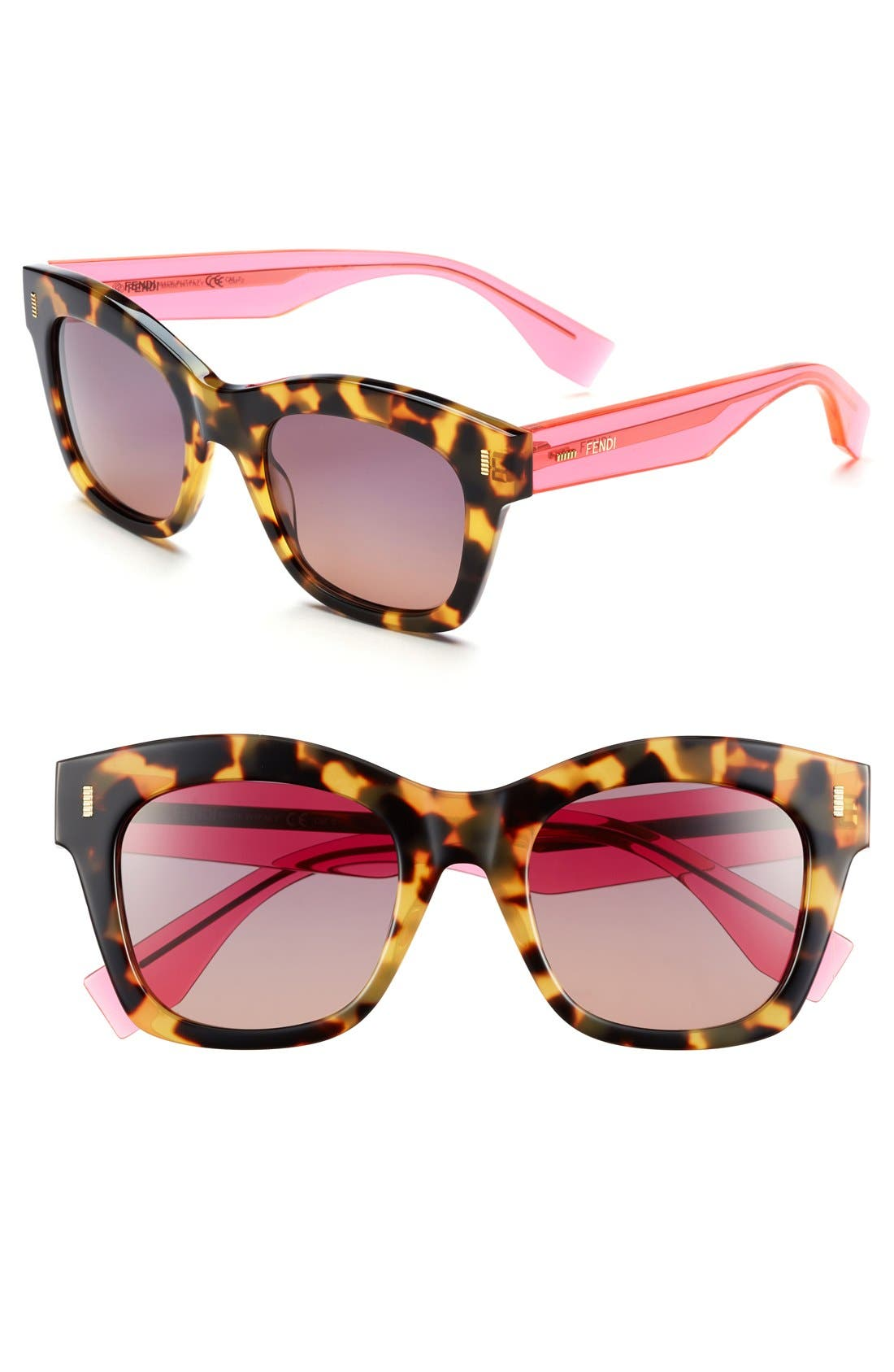 Alternate Image 1 Selected - Fendi 50mm Retro Sunglasses