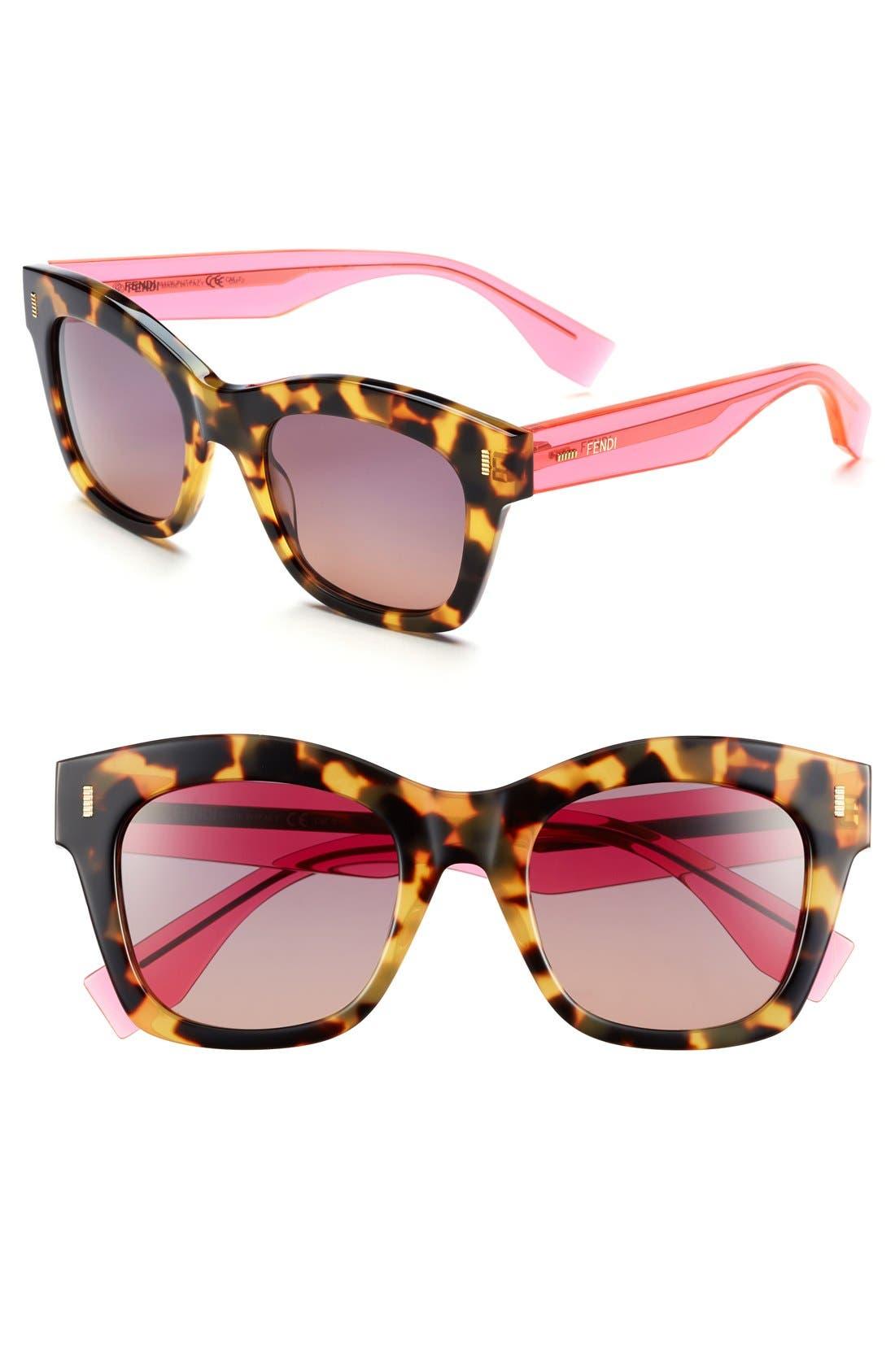 Main Image - Fendi 50mm Retro Sunglasses