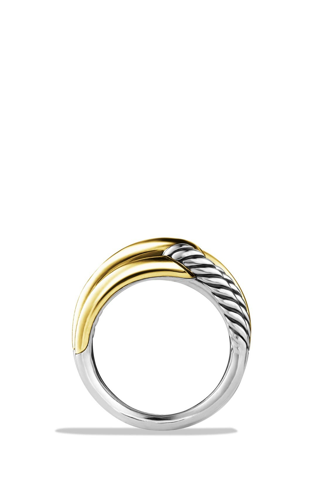 Alternate Image 2  - David Yurman 'Labyrinth' Double-Loop Ring with Gold