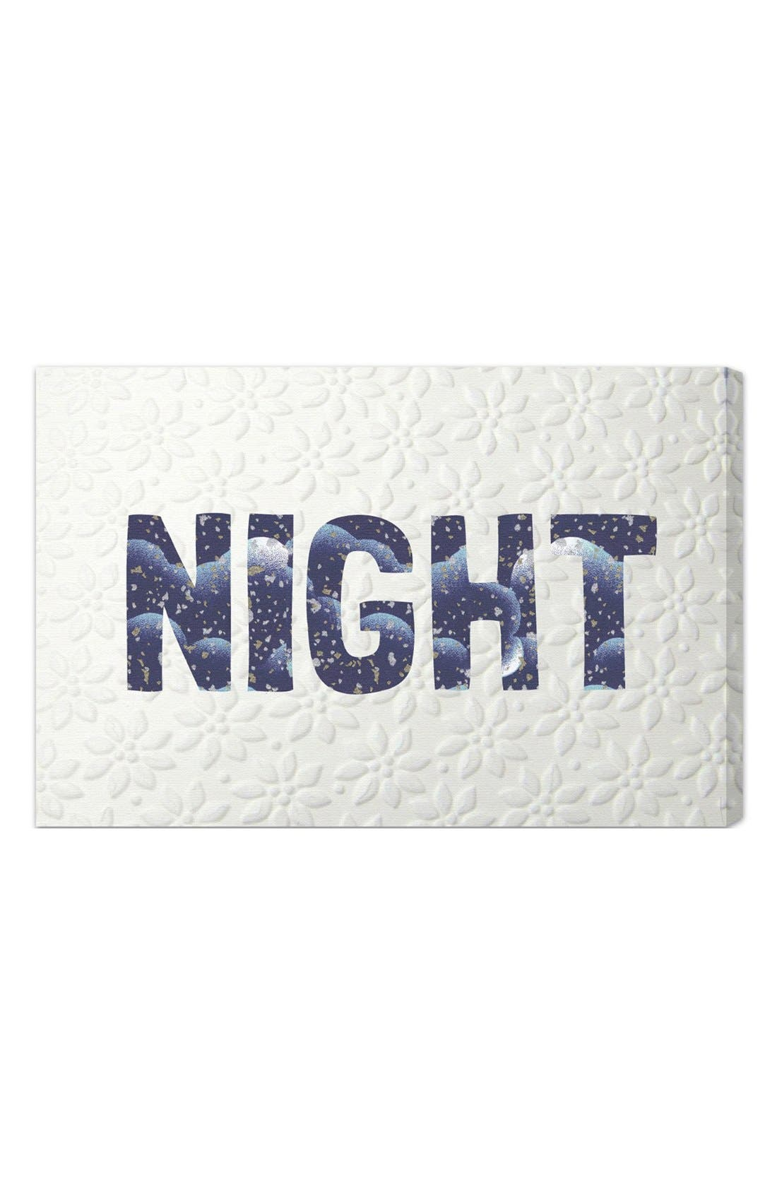 'Night Blue' Wall Art,                         Main,                         color, Blue