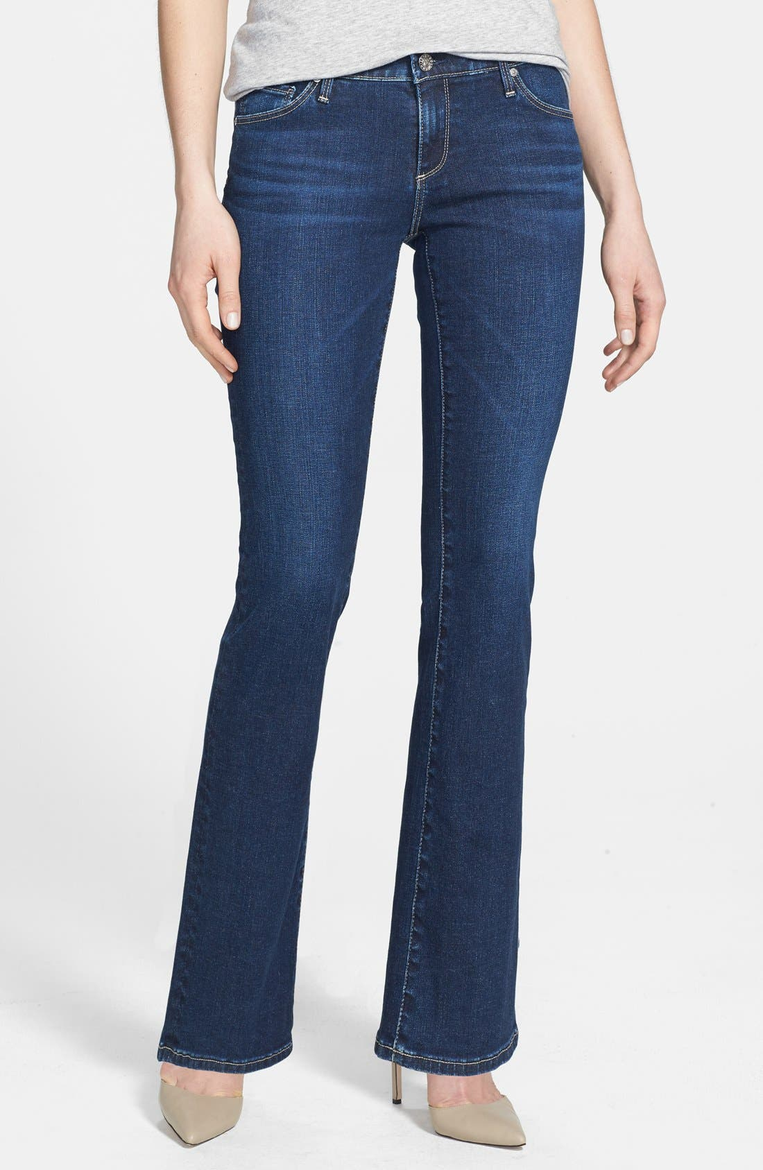 Alternate Image 1 Selected - AG 'Angelina' Bootcut Jeans (Petite) (Estate)